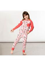Deux Par Deux Owl Pink Pajama Set (2pc)