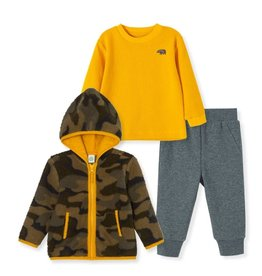 Little Me Camo Green Sherpa Set