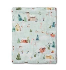 Loulou Lollipop Muslin Swaddle - Merry and Bright
