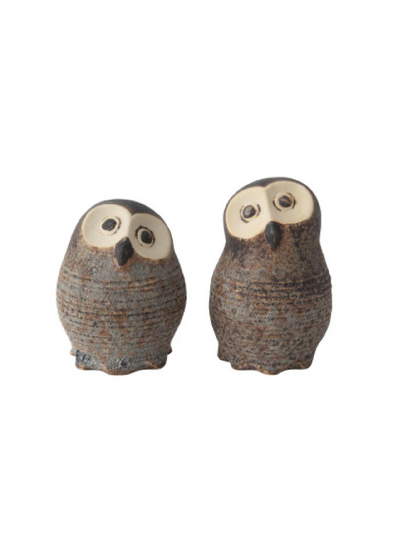 Stoneware Owls Set of Two
