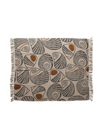 Recycled Cotton Blend Printed Throw with Fringe