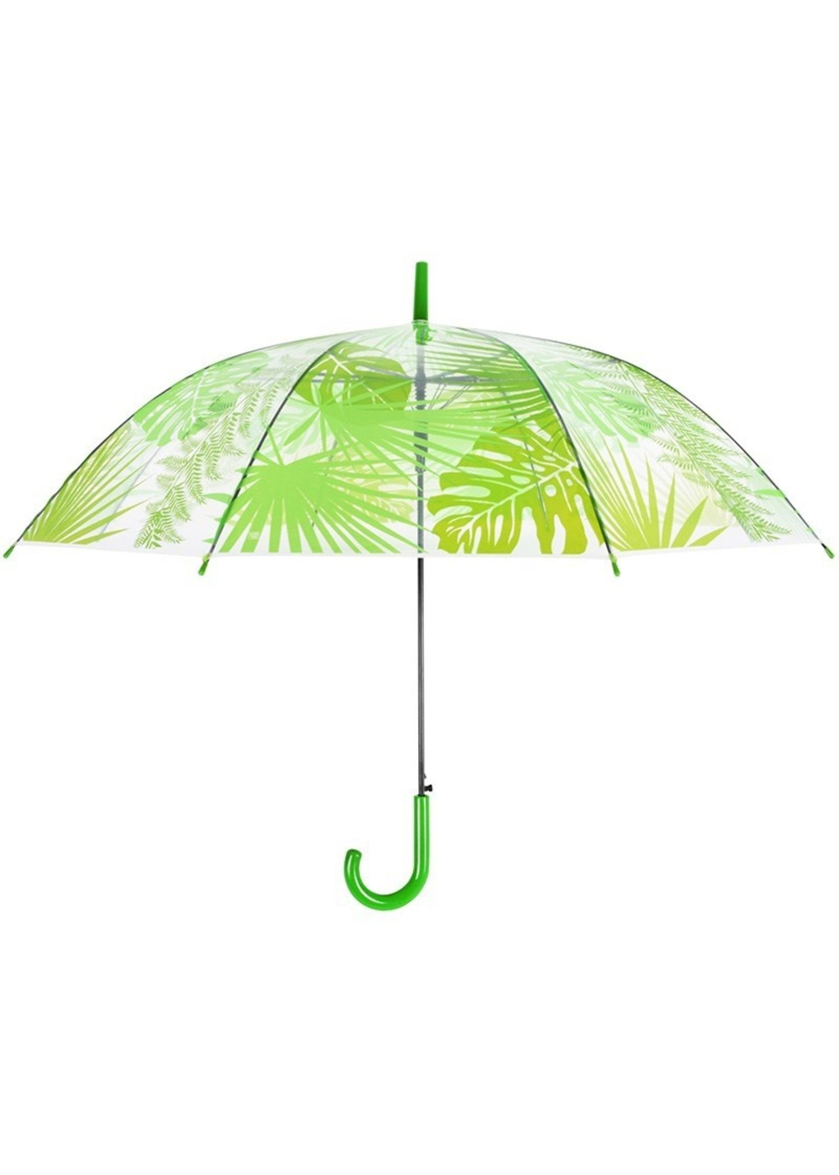 Transparent Jungle Leaves Umbrella