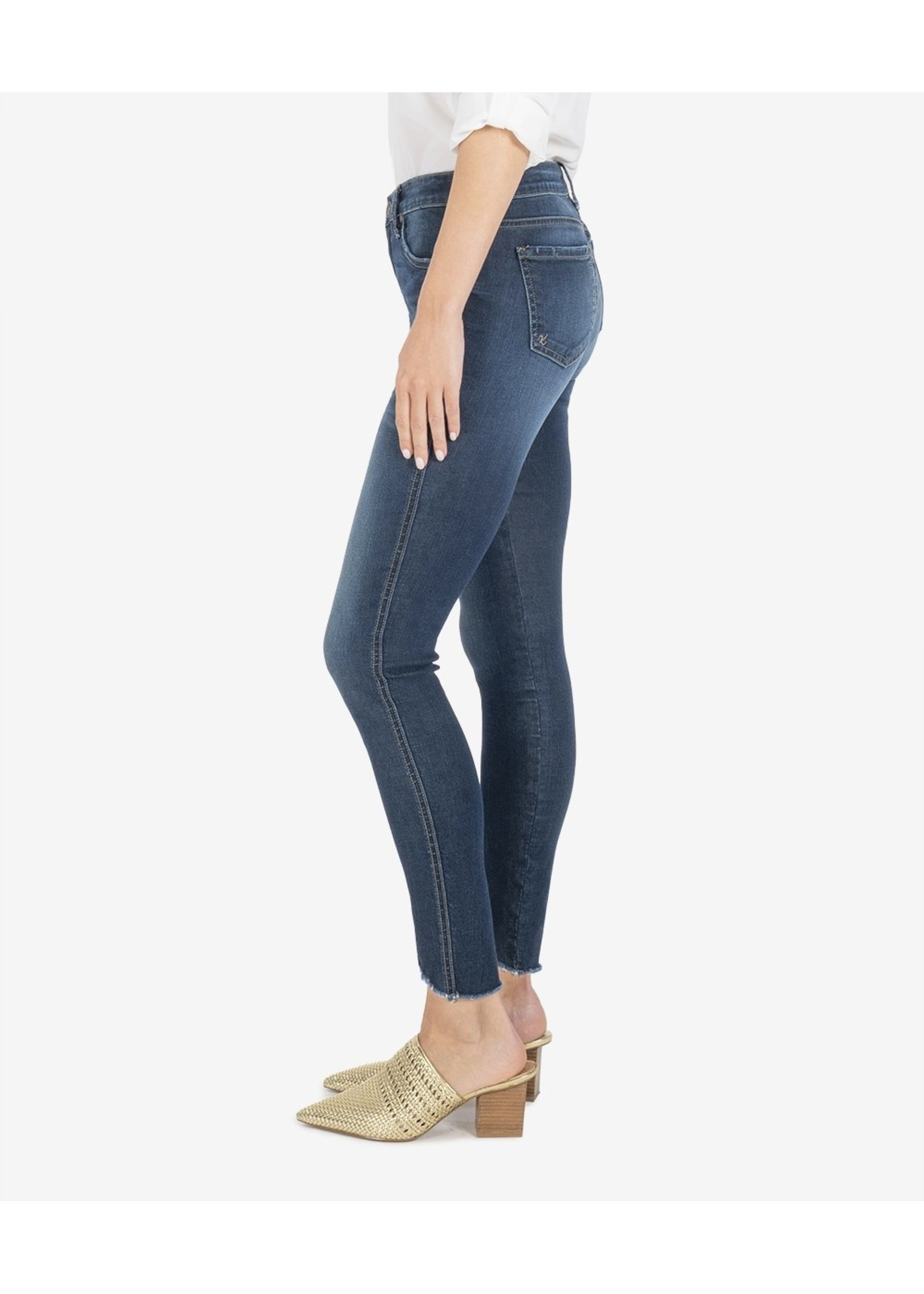 KUT From The Kloth Connie High Rise Fab AB Ankle w/ Curve Raw Hem