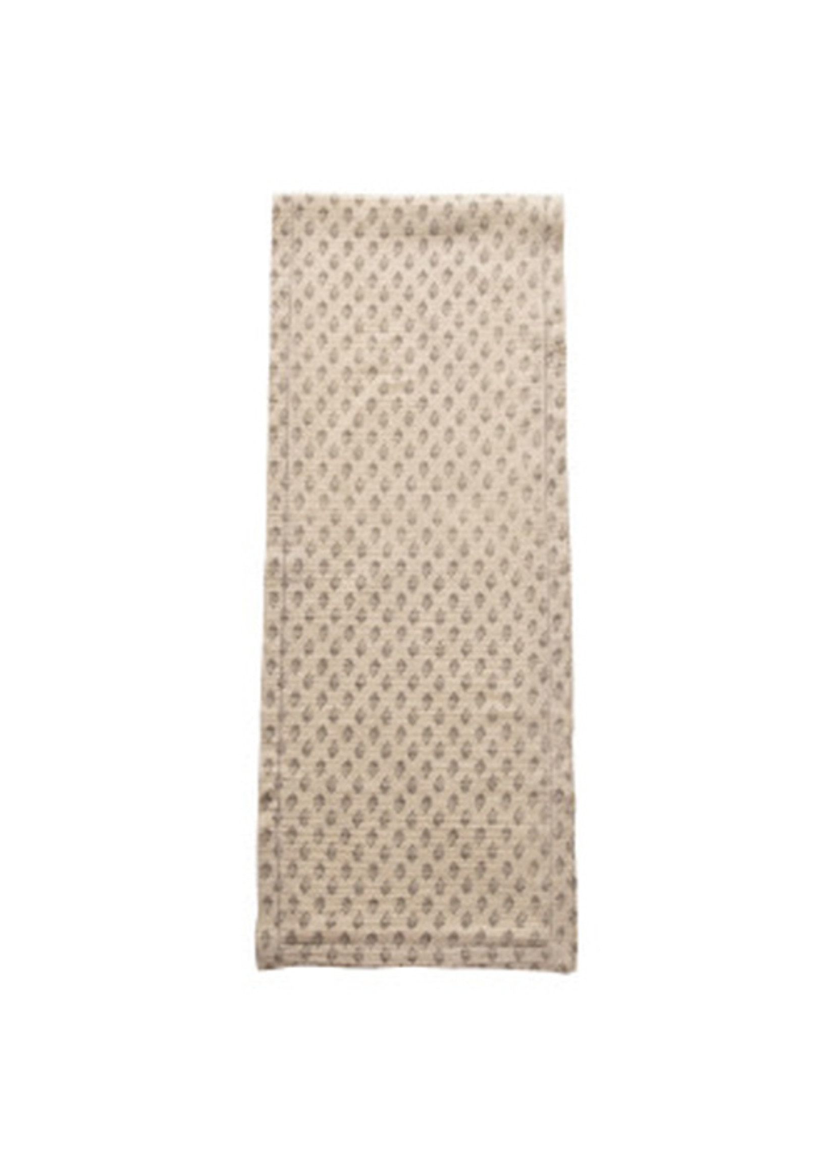 Cotton Table Runner with Floral Pattern
