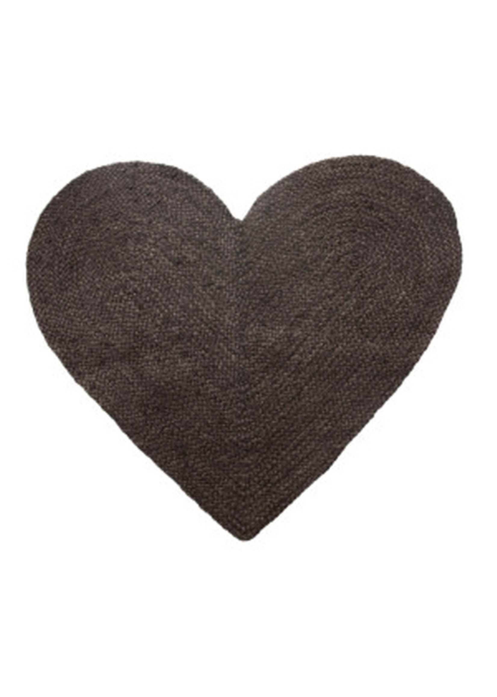 Braided Jute and Cotton Heart Shaped Rug