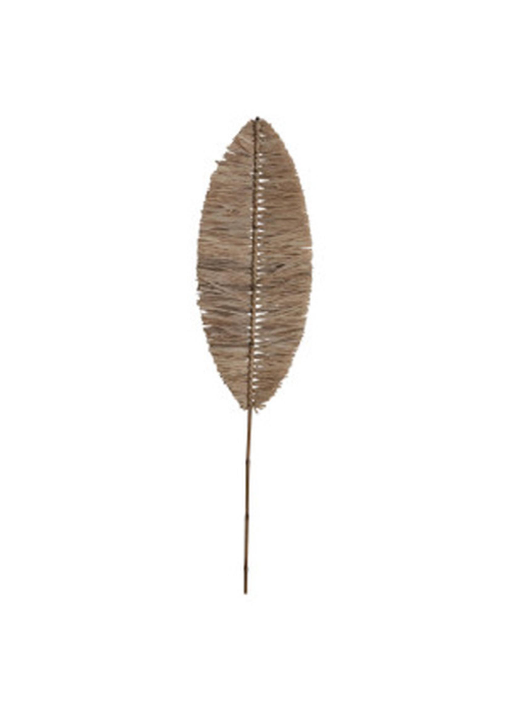 Handmade Natural Raffia Banana Leaf Shape