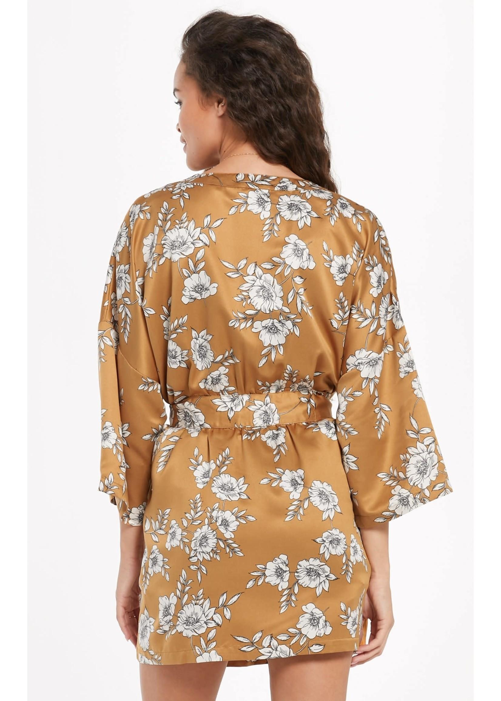 Vacay Floral Satin Robe