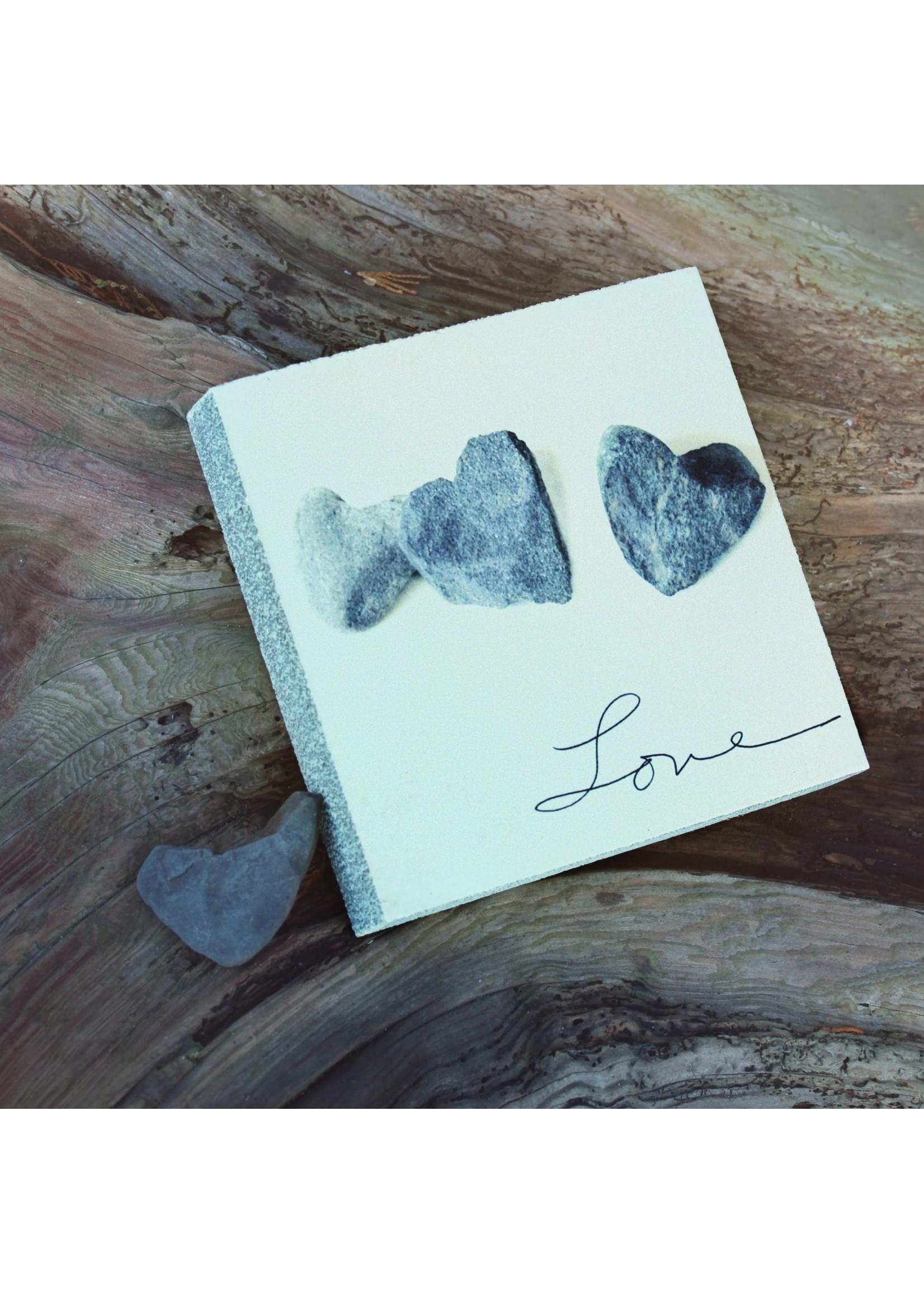 Cedar Mountain Studios Love Stones Art Block