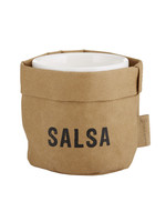 Washable paper Salsa Holder with Ceramic Dish