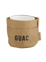 Washable Paper Guacamole Holder with Ceramic Dish