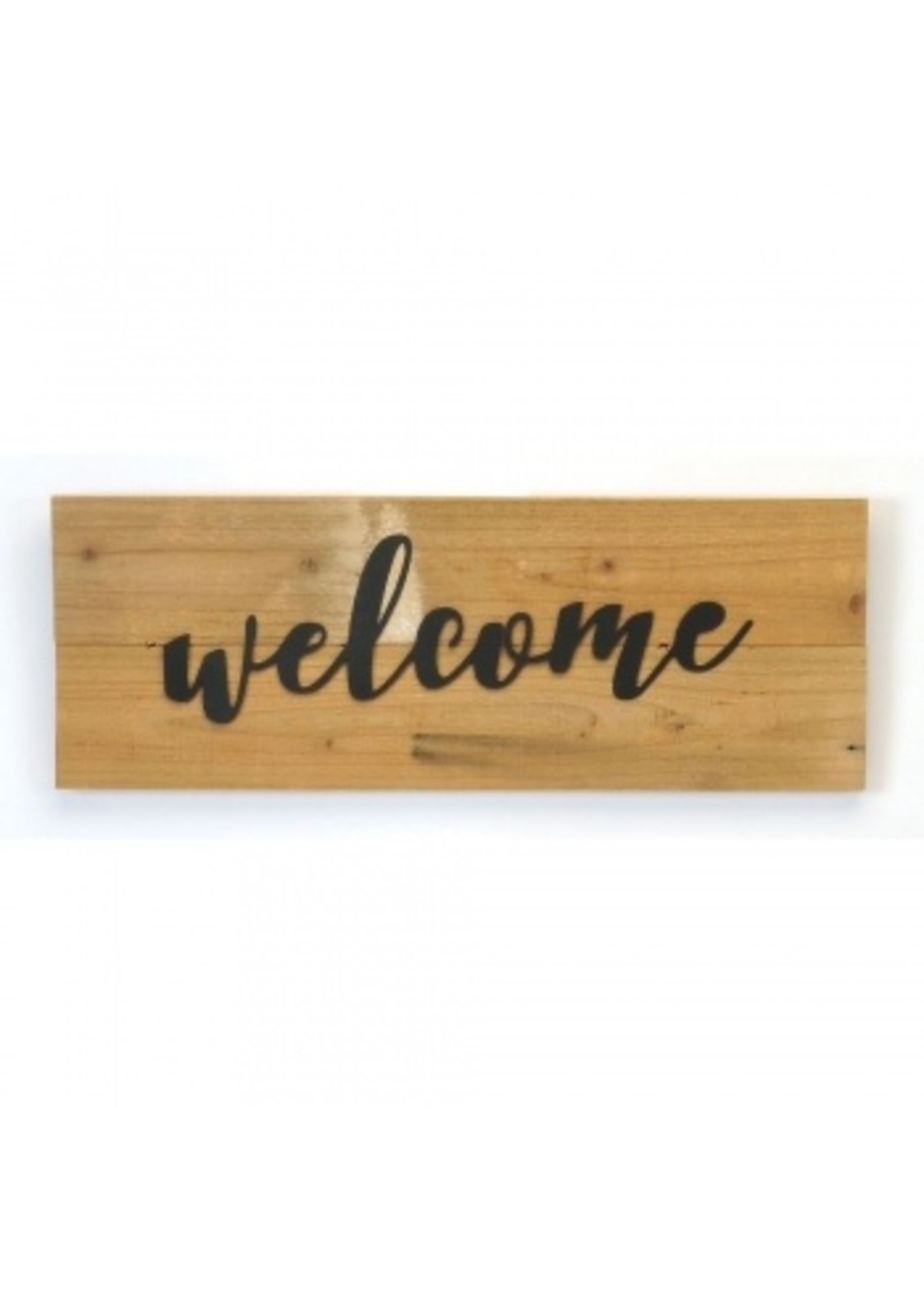 Wood and Metal Welcome Sign