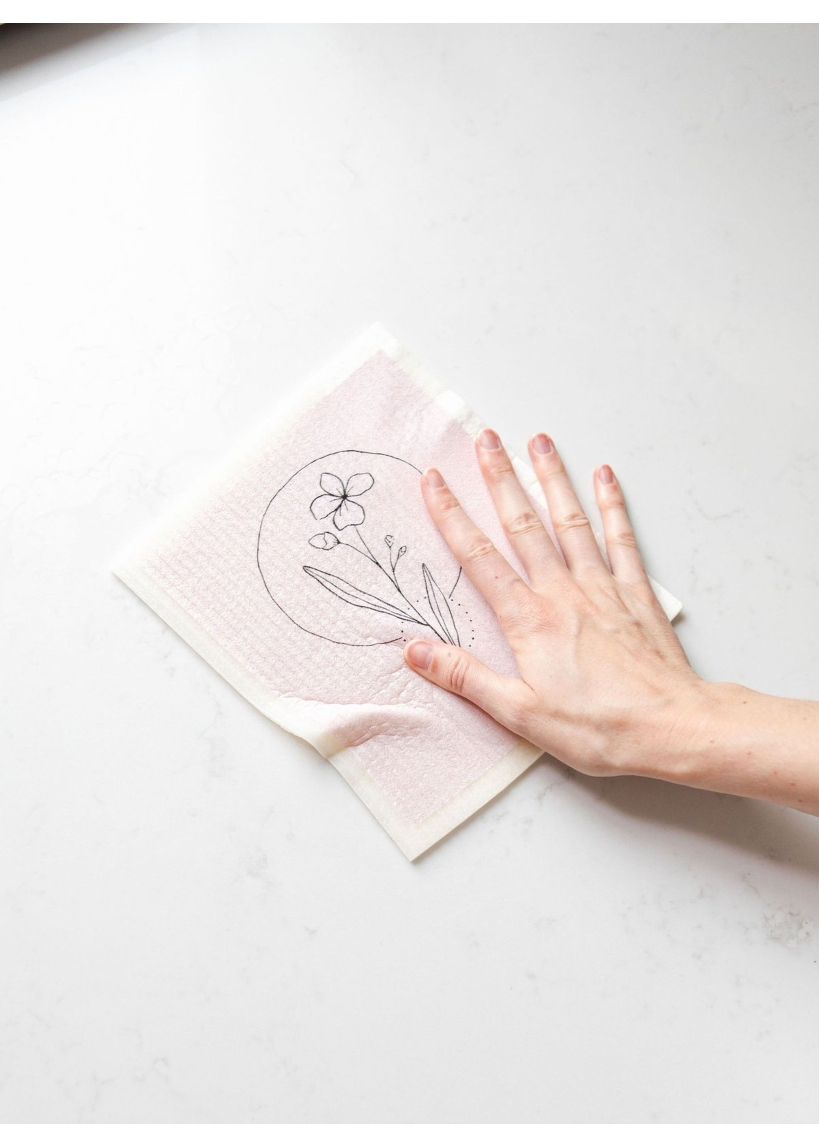 Goldilocks Wraps Pink Wildflower Swedish Dish Cloth
