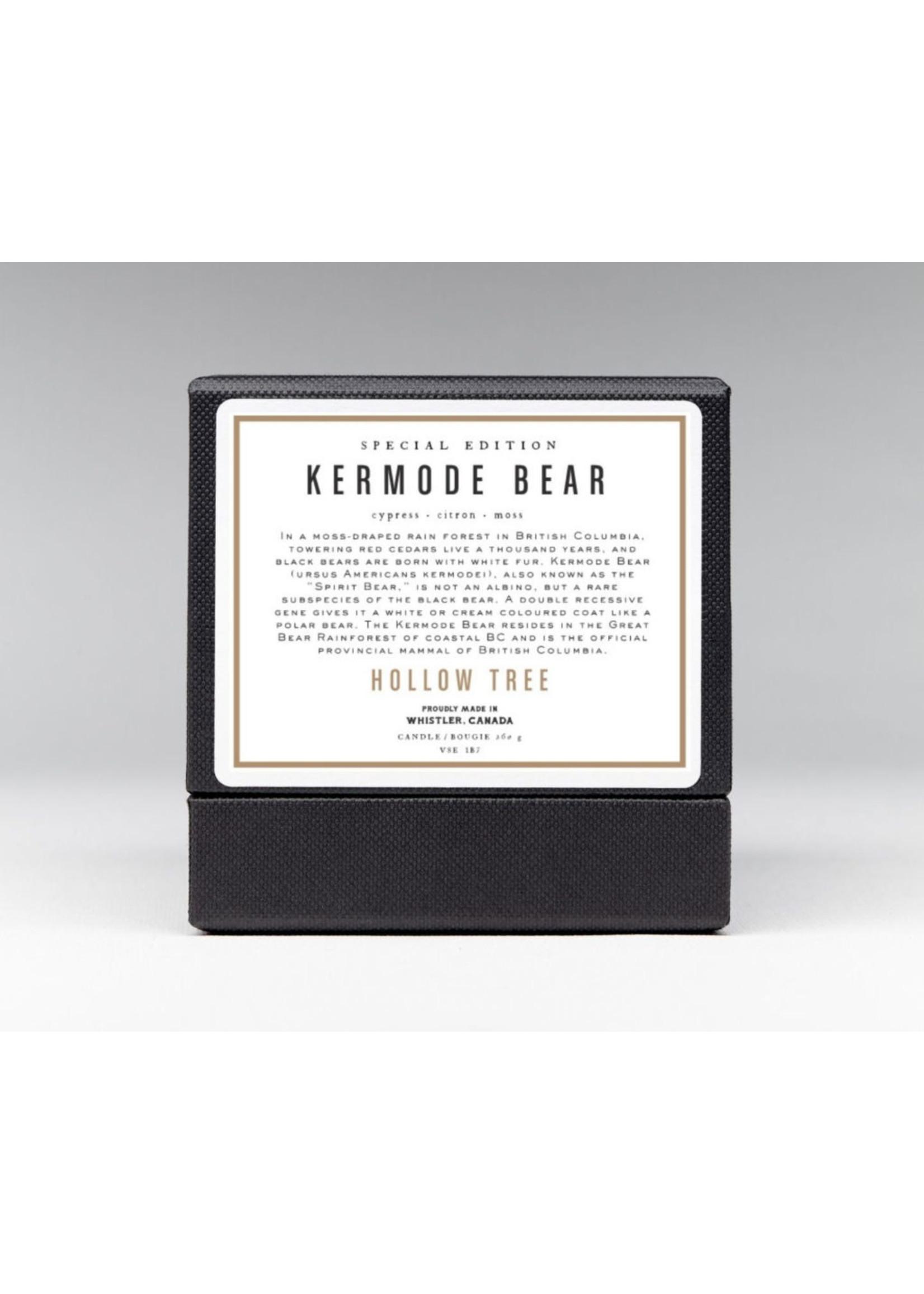 Hollow Tree Kermode Bear Candle