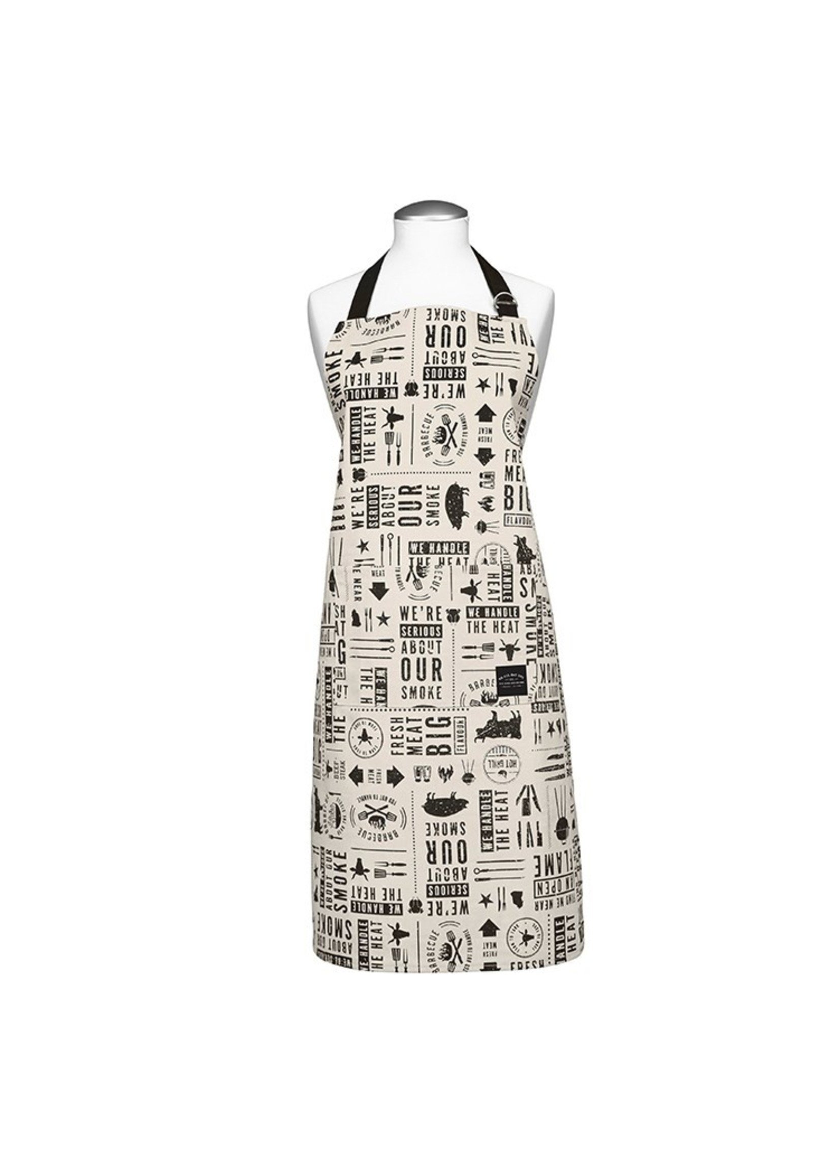 We All Eat BBQ Printed Apron