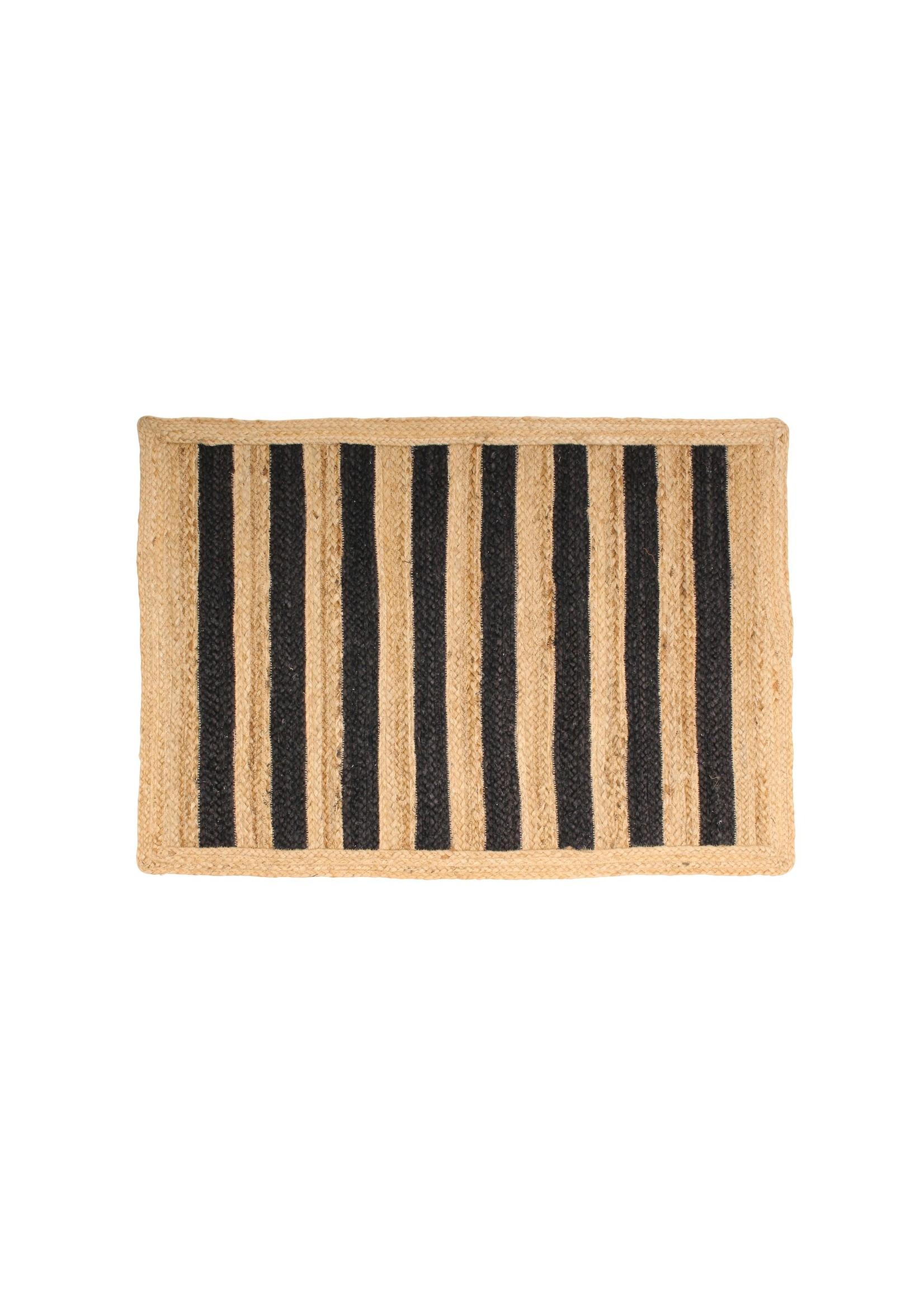 Bold Stripe Jute Accent Rug