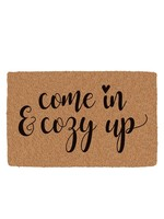 """""""Come In And Cozy Up"""" Printed Coir Mat"""
