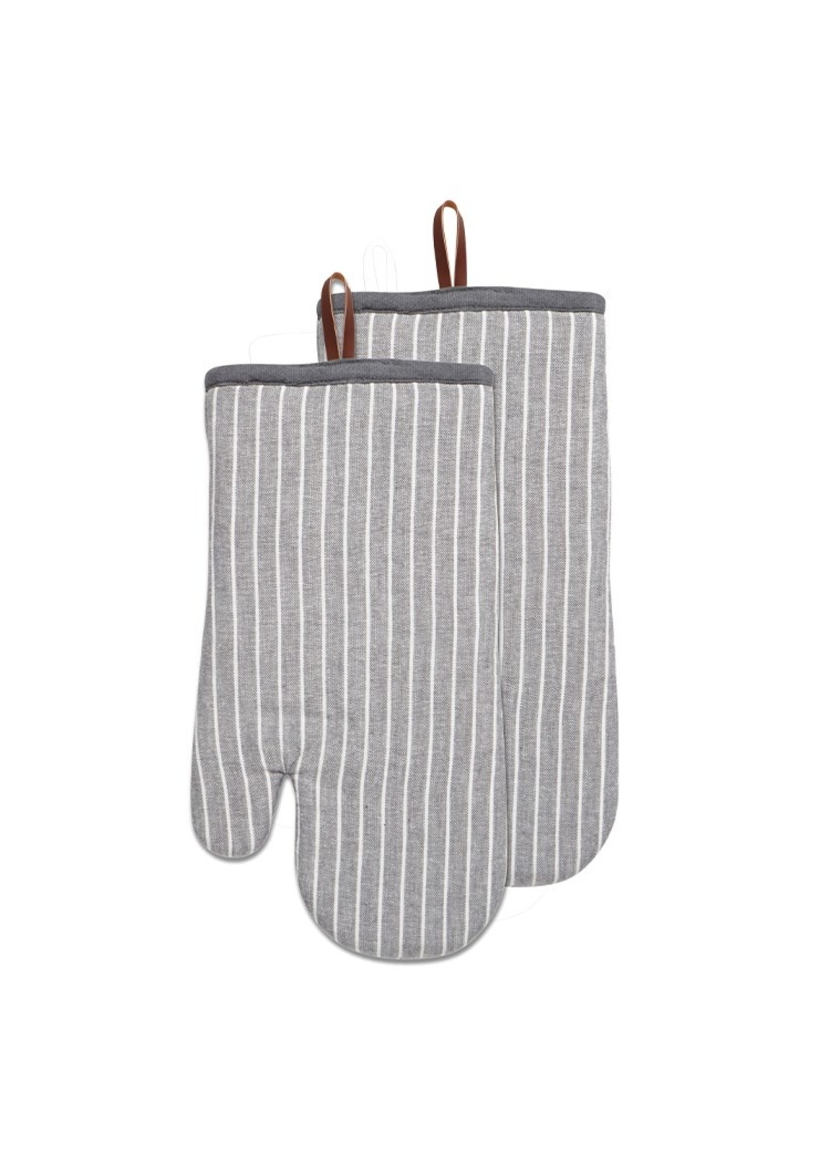 Chambray Stripe Oven Mitts