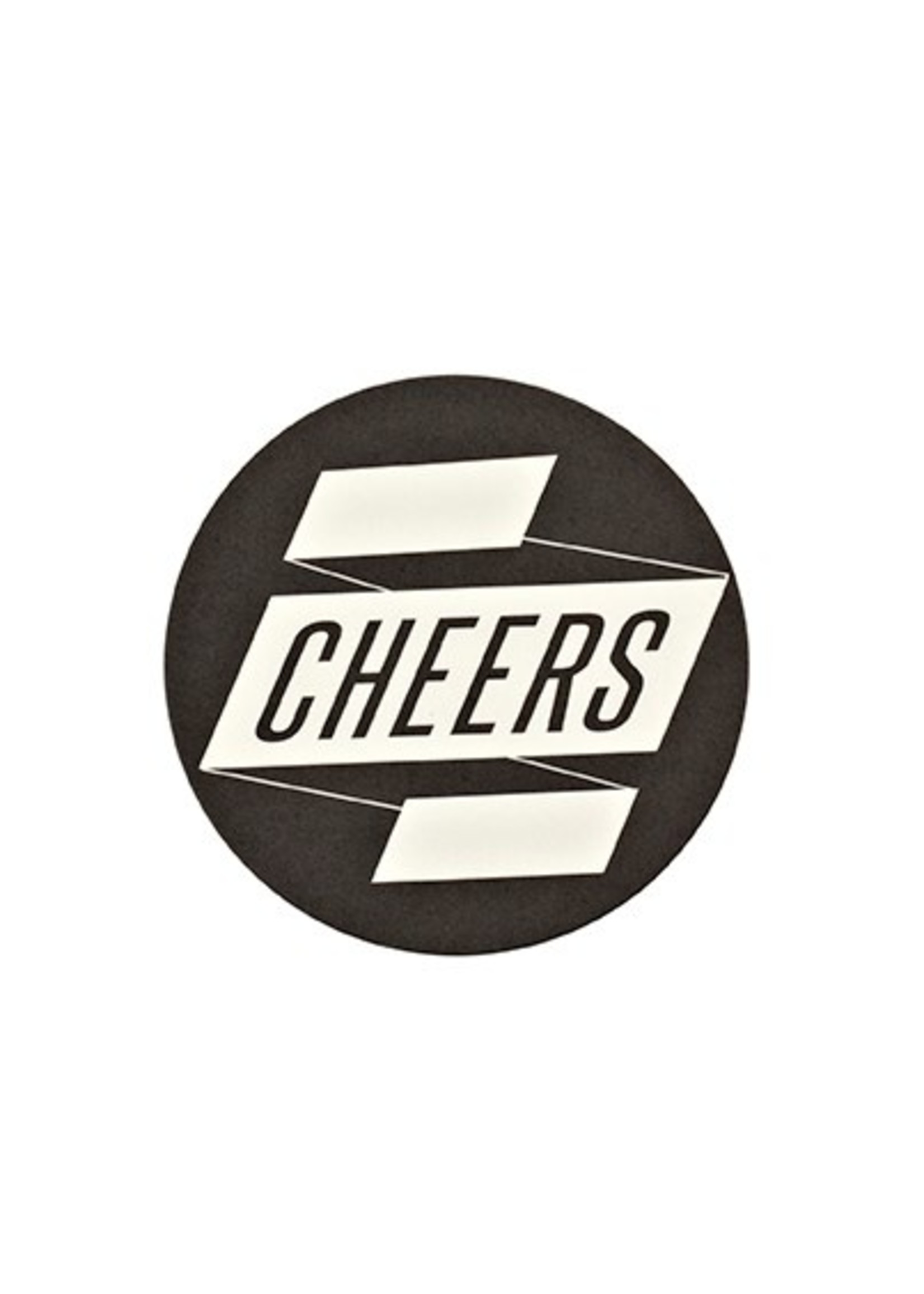 """""""Cheers"""" Paper Coaster with Tin"""
