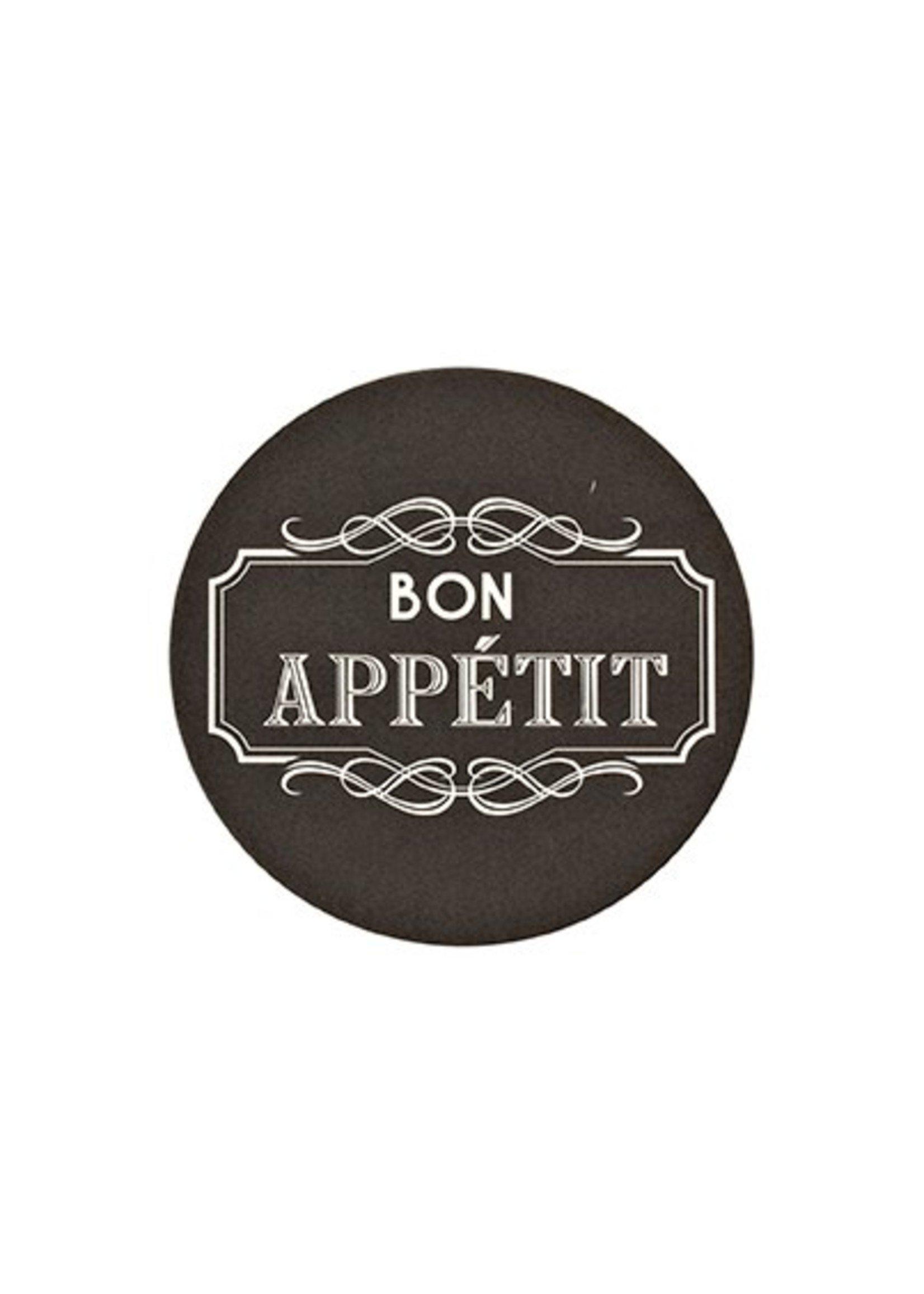 """Bon Appetit"" Paper Coaster with Tin"