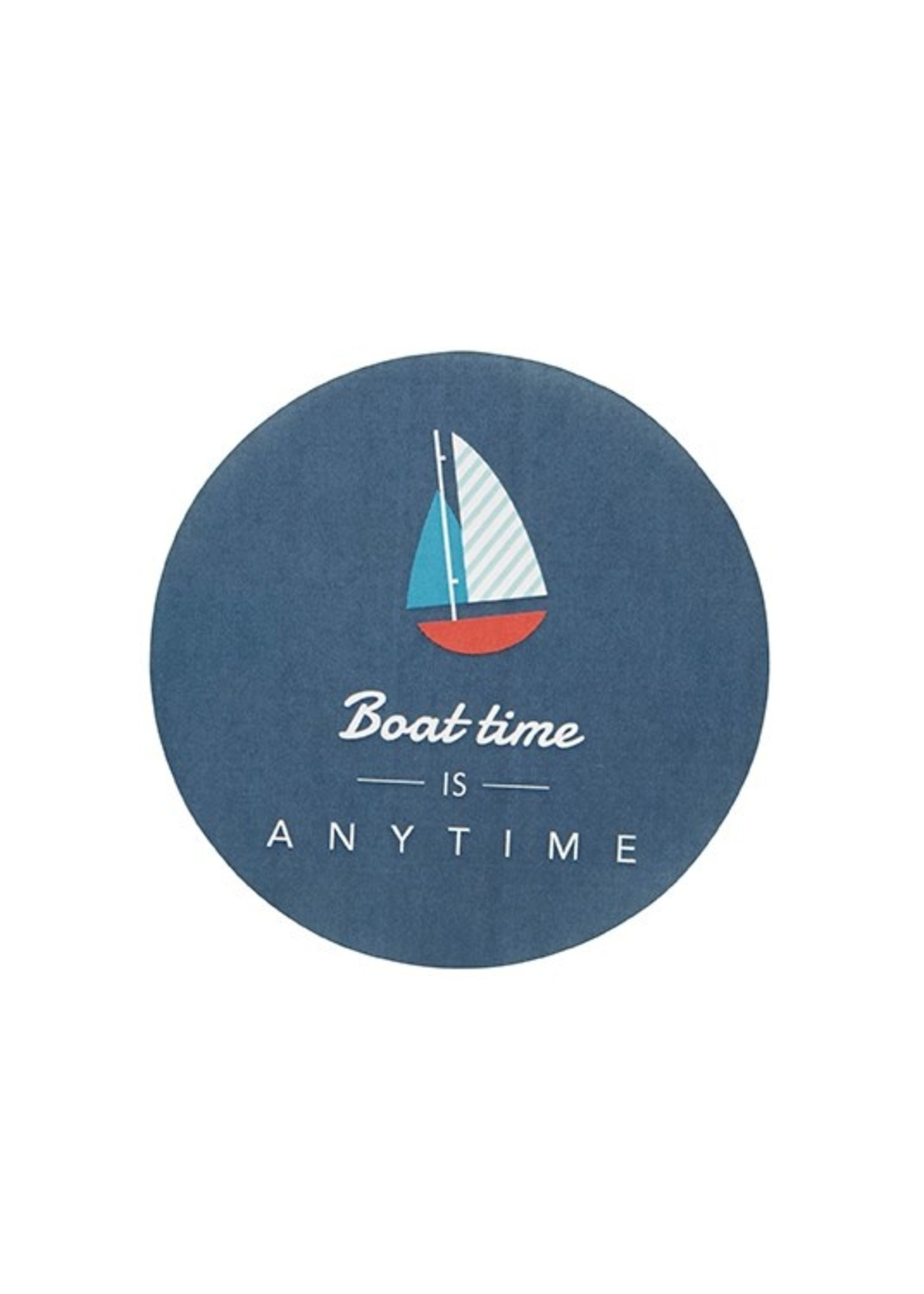 """""""Boat Time is Anytime"""" Paper Coaster with Tin"""