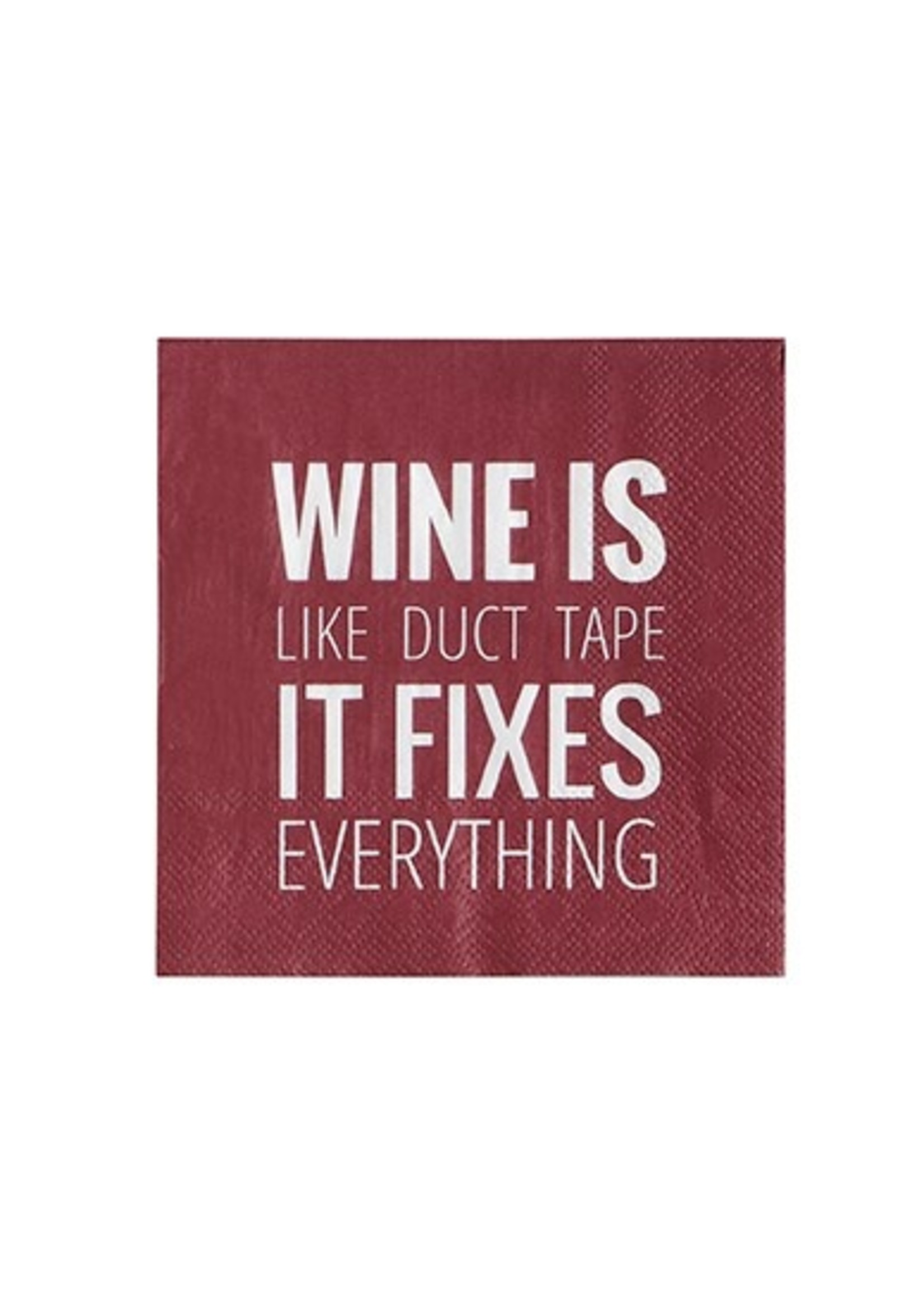 """""""Wine Is Like Duct Tape"""" Paper Cocktail Napkin"""
