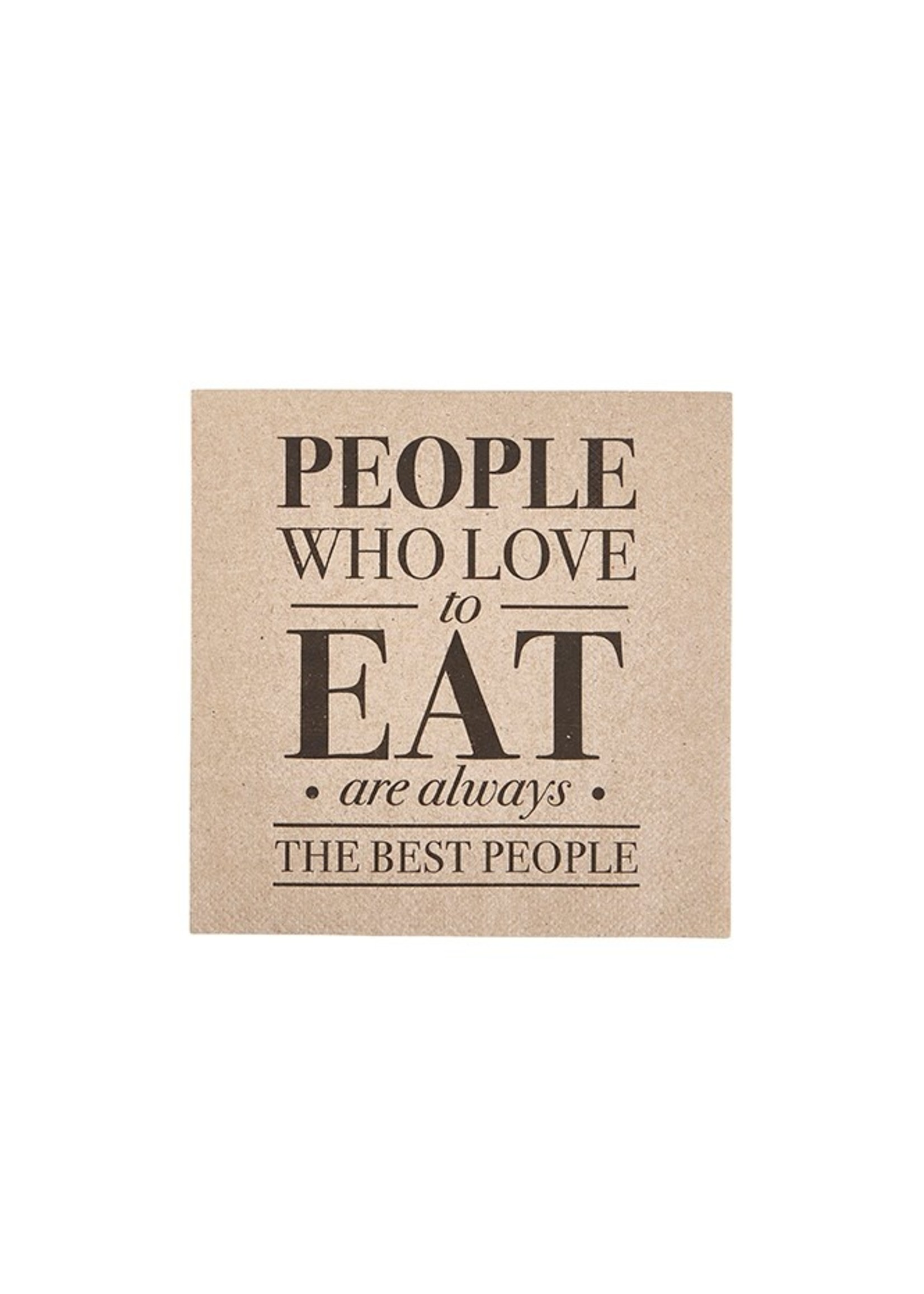 """""""People Who Love To Eat"""" Cocktail Napkin"""