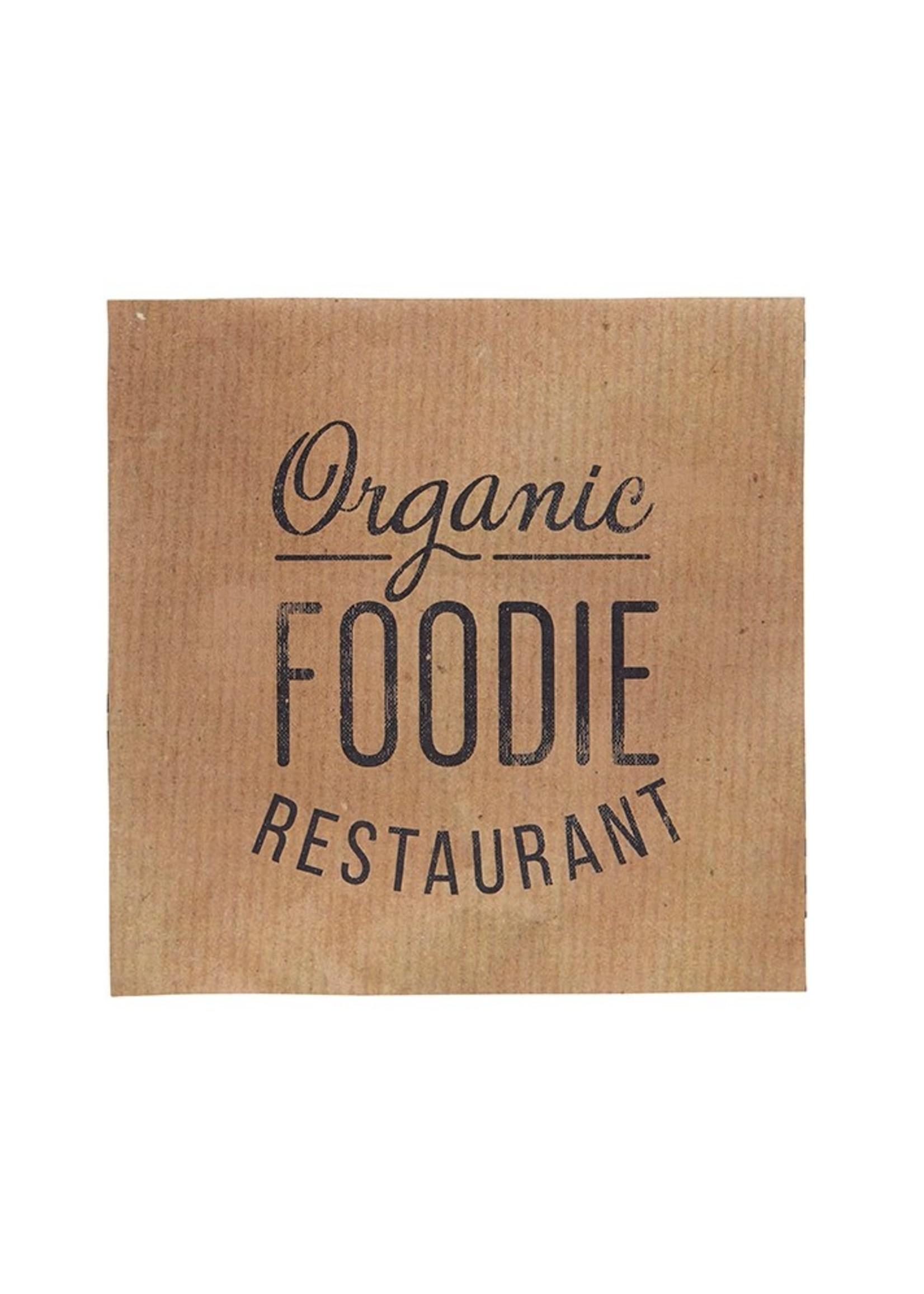 Organic Foodie Restaurant Paper Cocktail Napkin