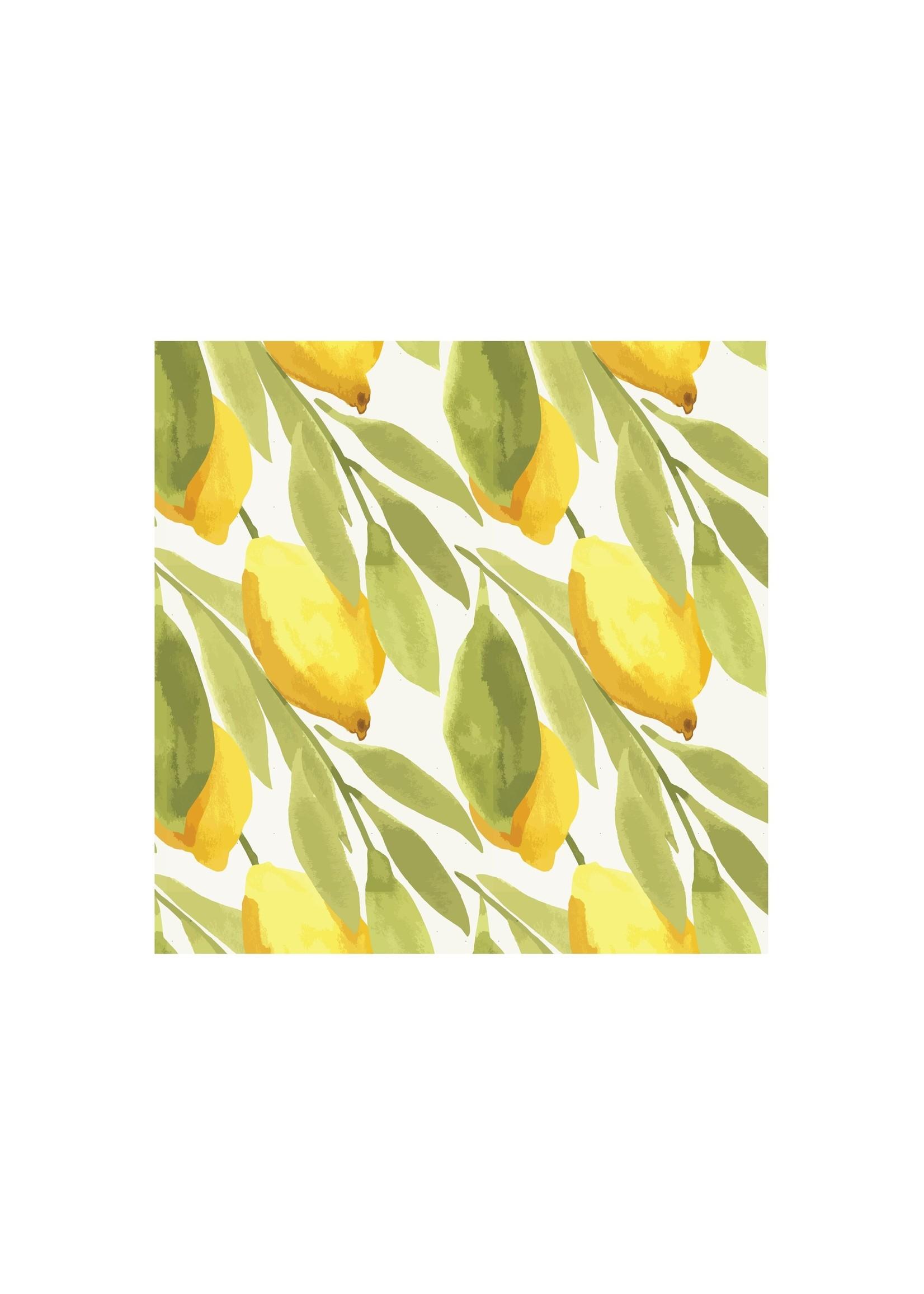 Lemon Printed Cocktail Napkin