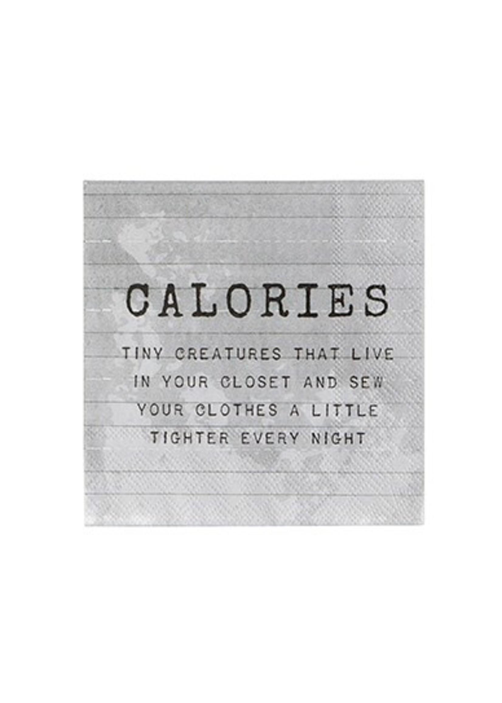 """""""Calories"""" Paper Cocktail Napkin"""