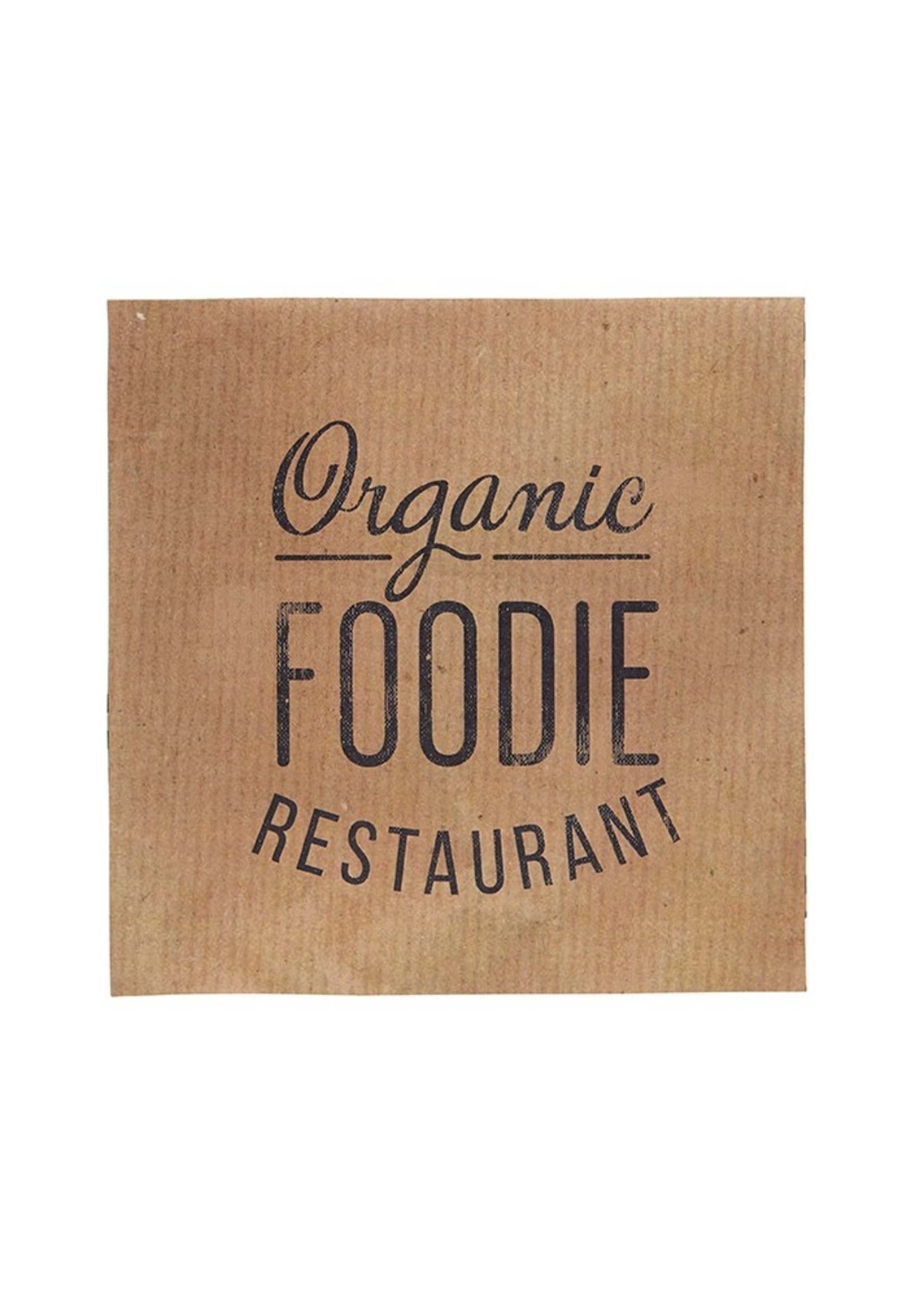 Organic Foodie Restaurant Paper Luncheon Napkin