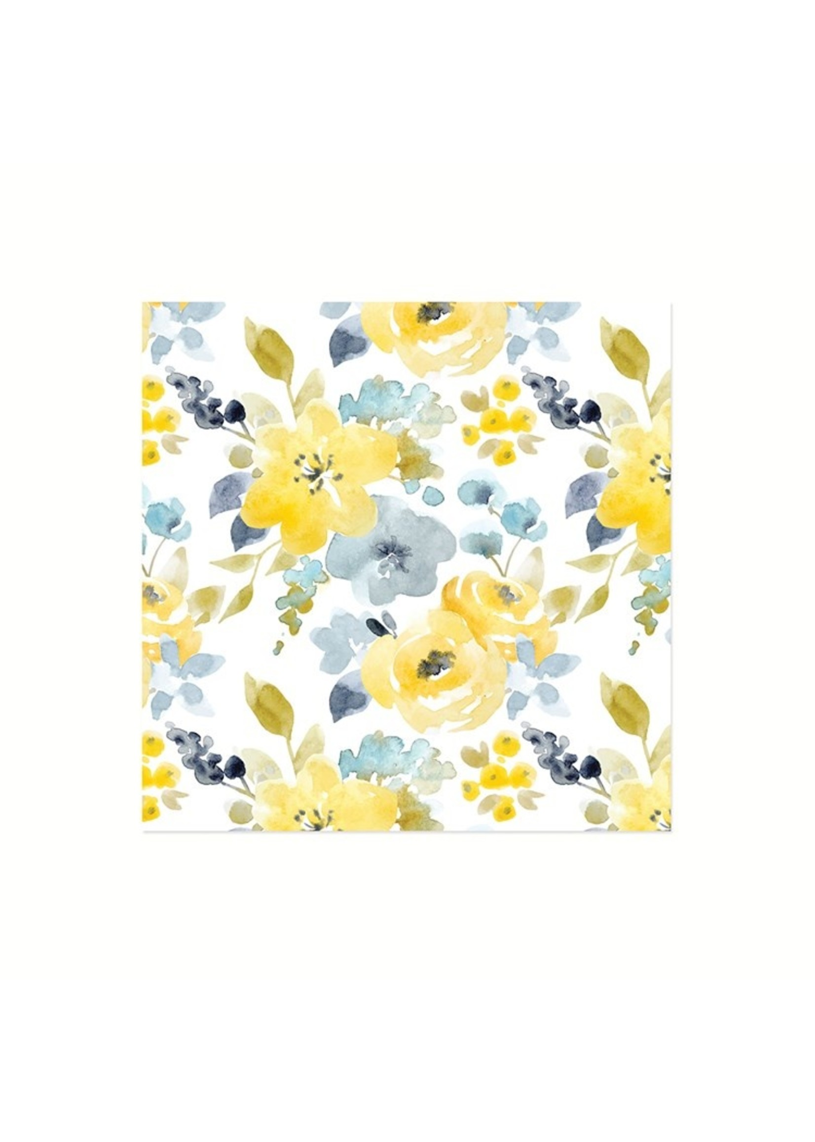 Blue Floral Luncheon Napkin