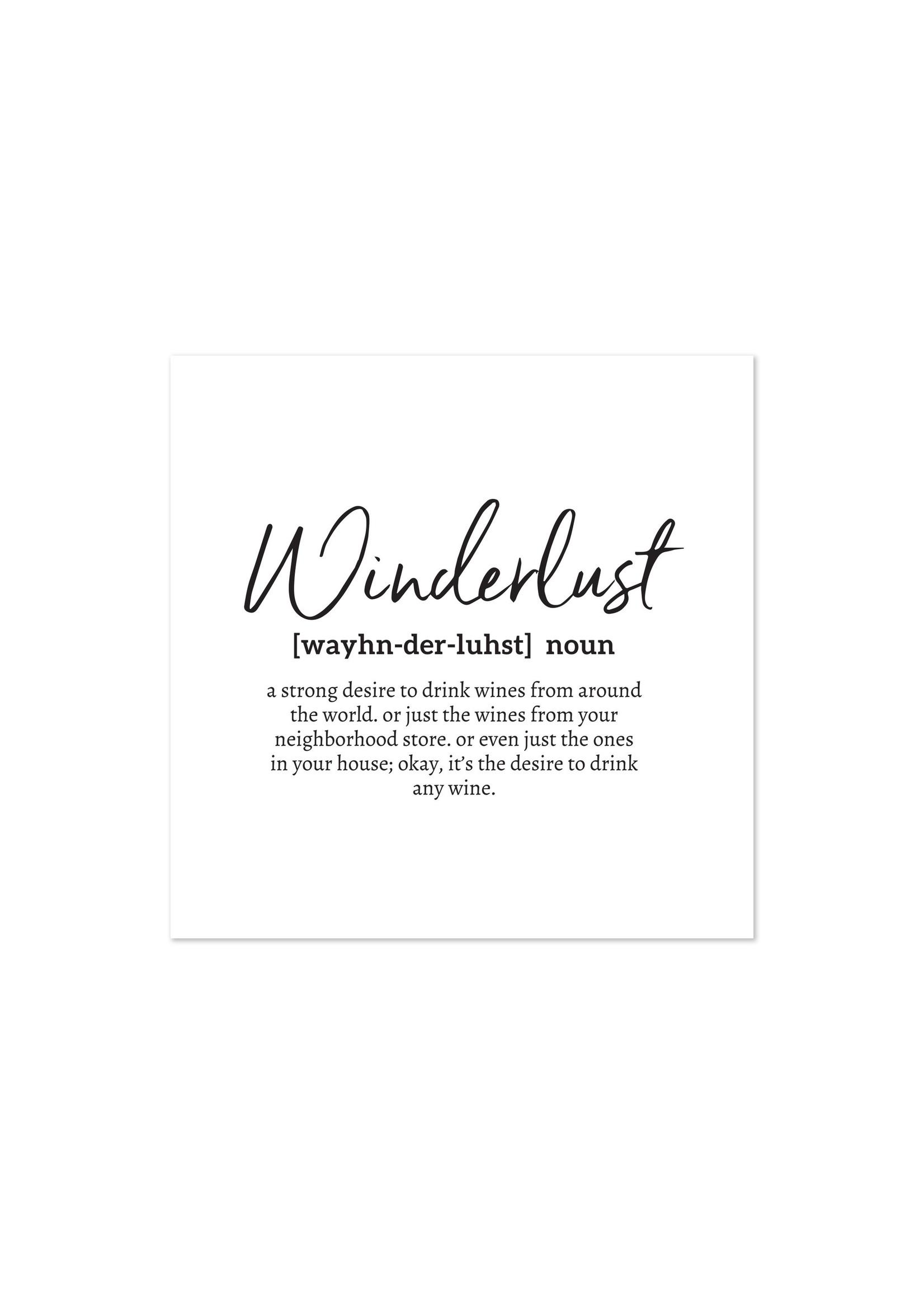 """Winderlust"" Printed Cocktail Napkin"