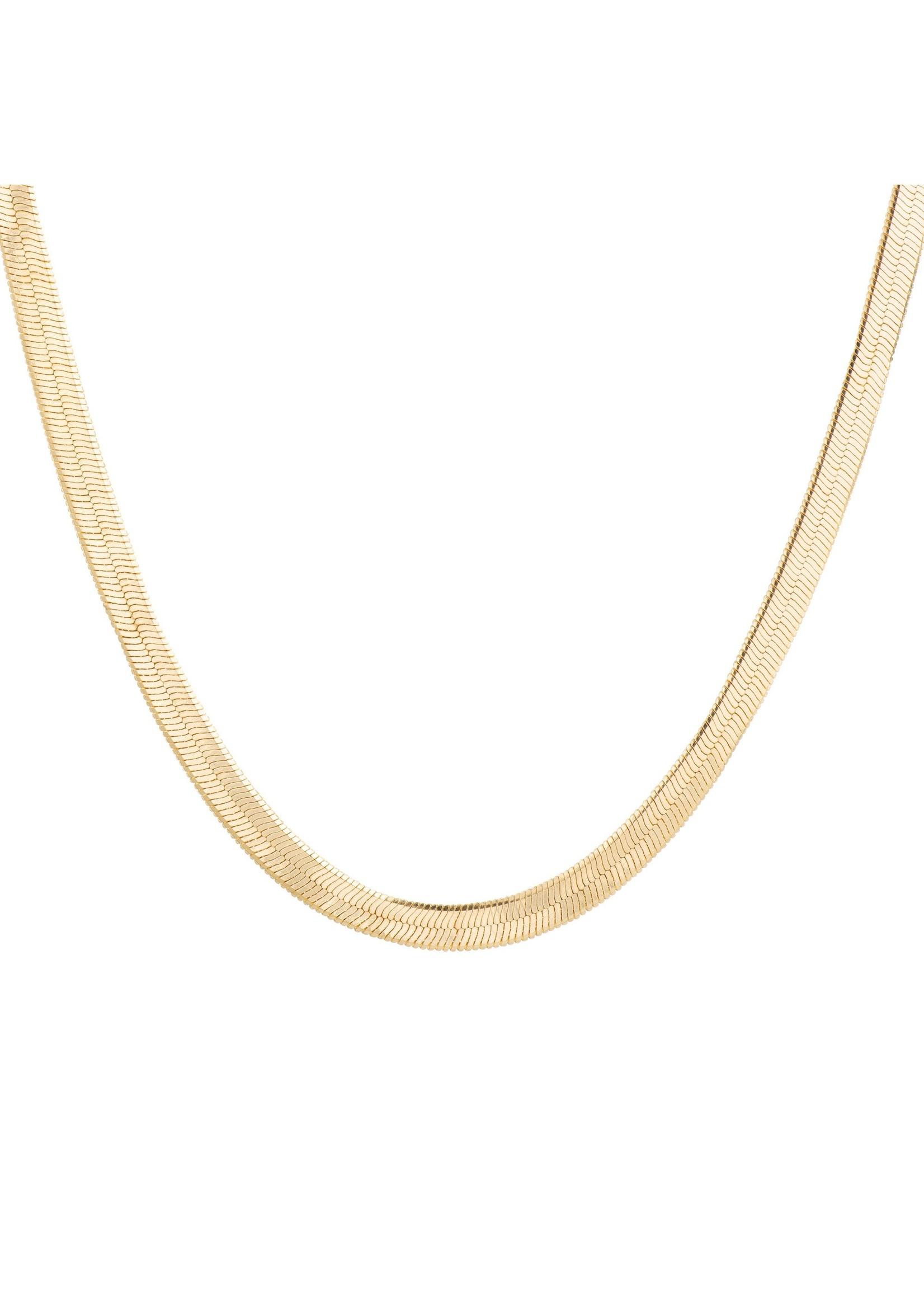 Lolo Jewellery Herringbone - Gold
