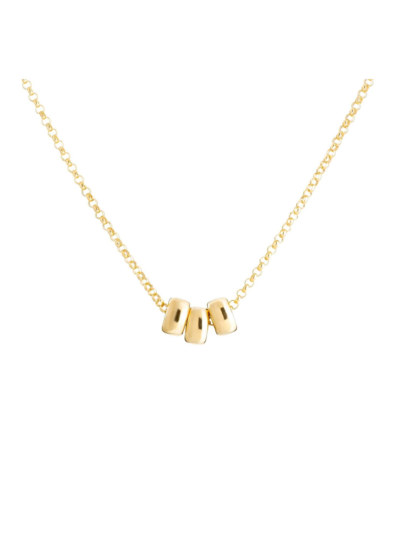 Lolo Jewellery Trio 6mm Rondell - Gold