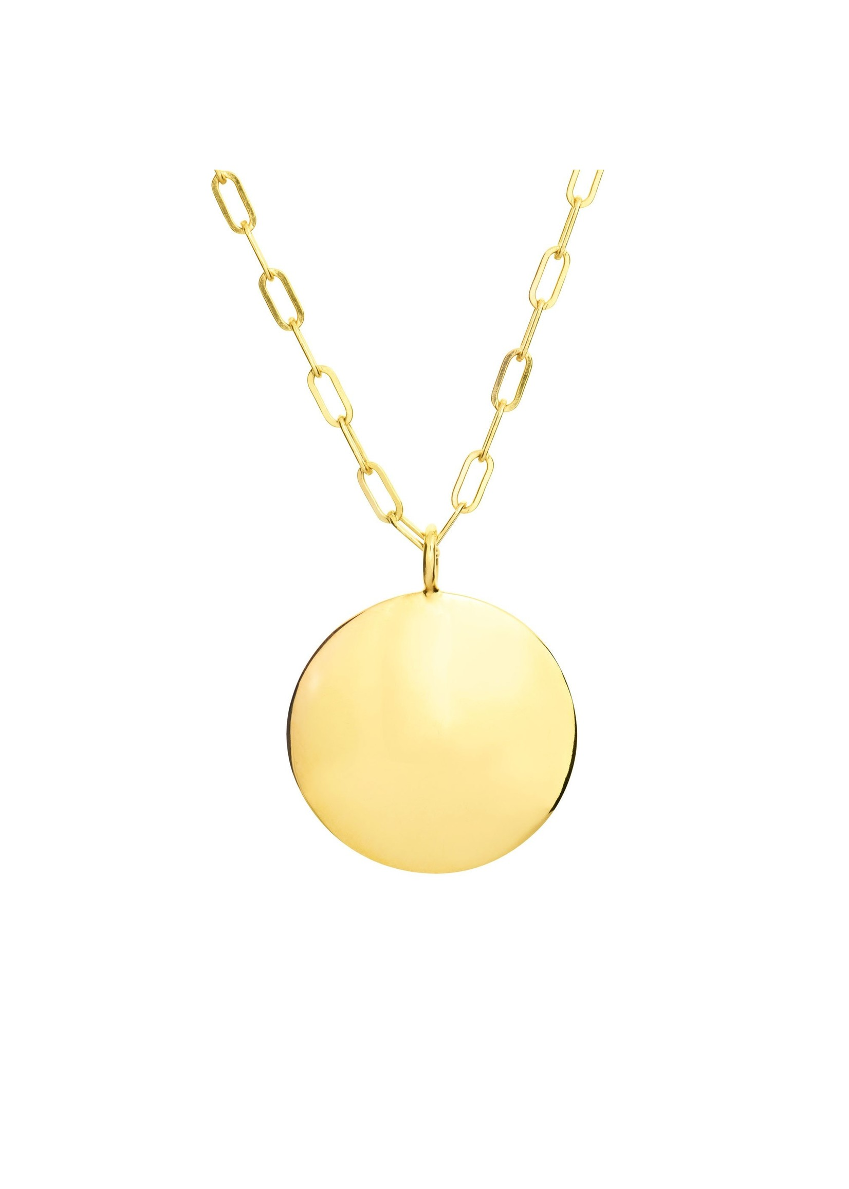 Chloe Disc Necklace - Gold
