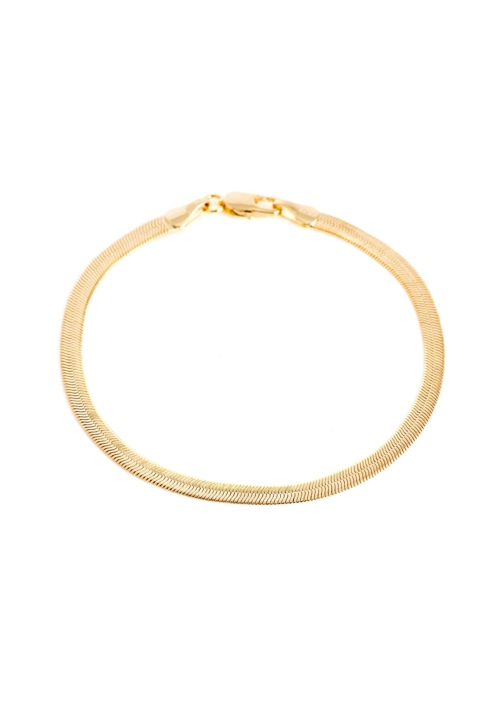Lolo Jewellery Herringbone Bracelet - Gold