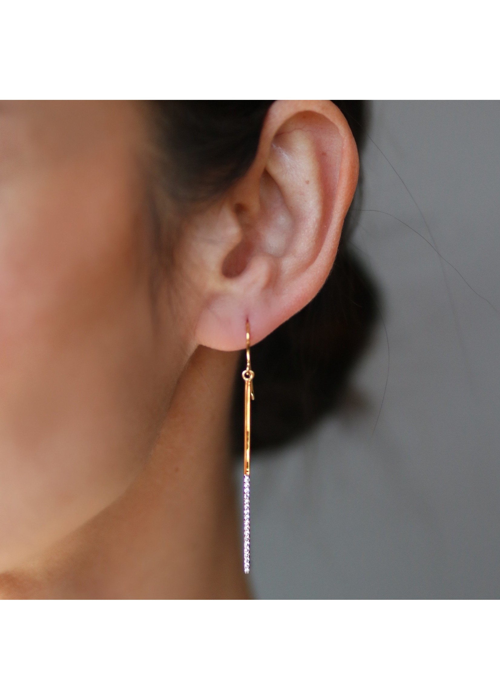 Pin Drop Earrings - Gold