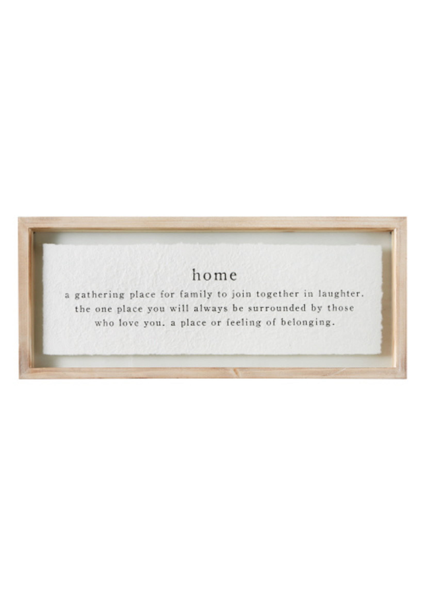 Mud Pie Home Definition Glassed Wall Art
