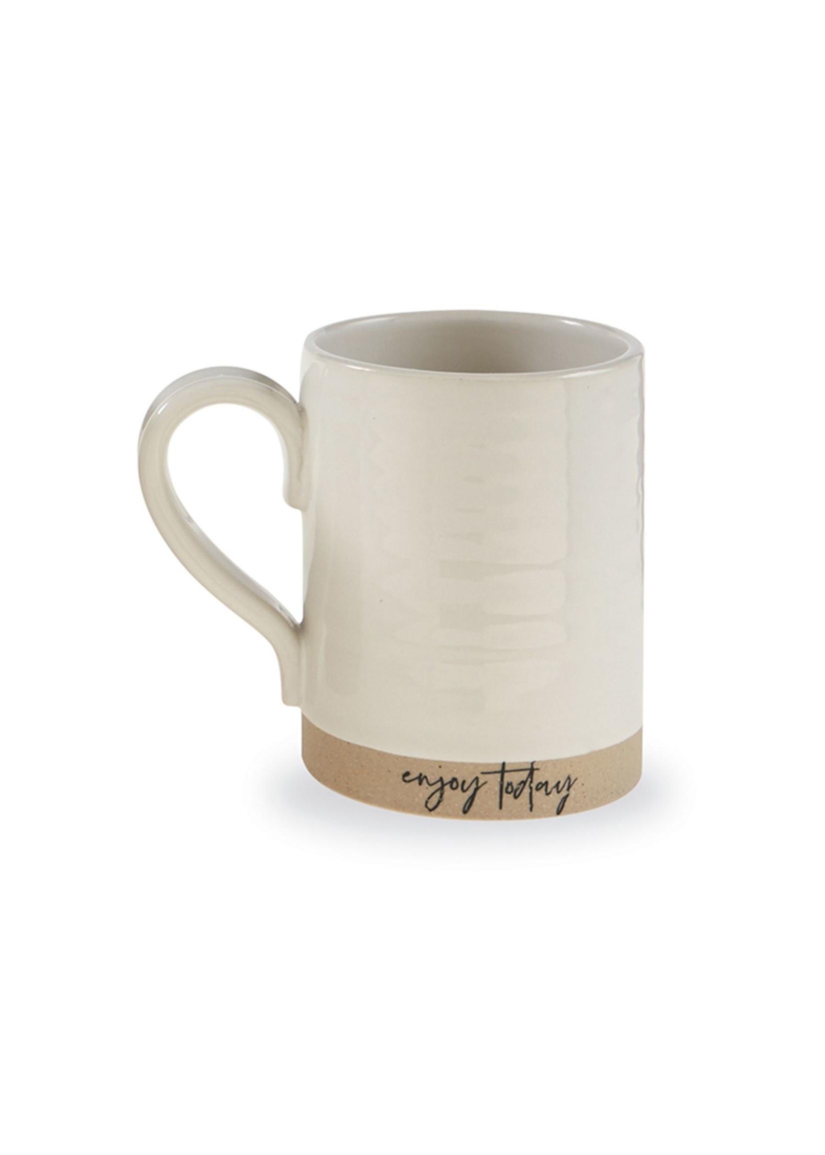 """Mud Pie """"Enjoy Today"""" Stoneware Mug"""