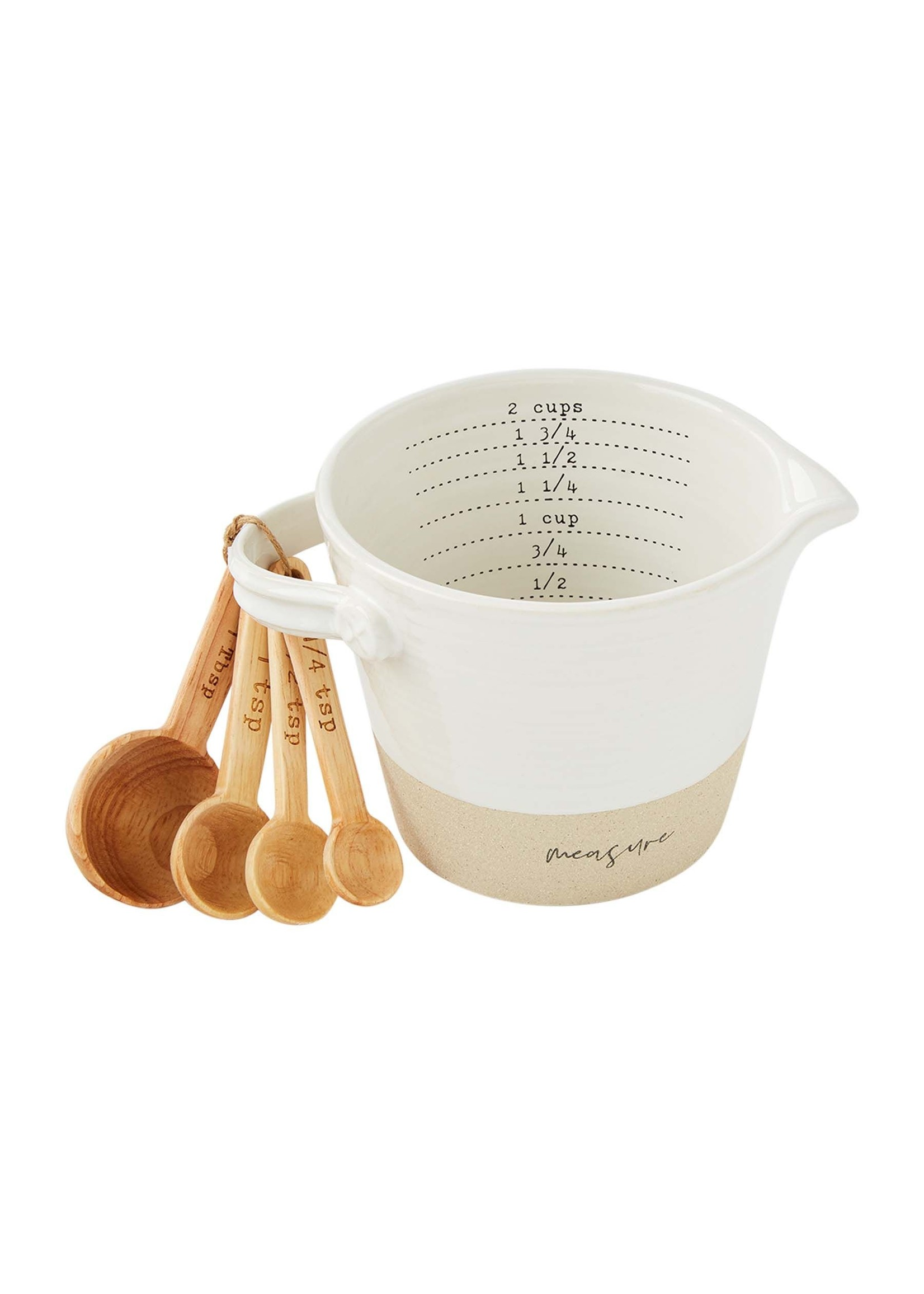 Stoneware Measuring Cup and Spoon Set