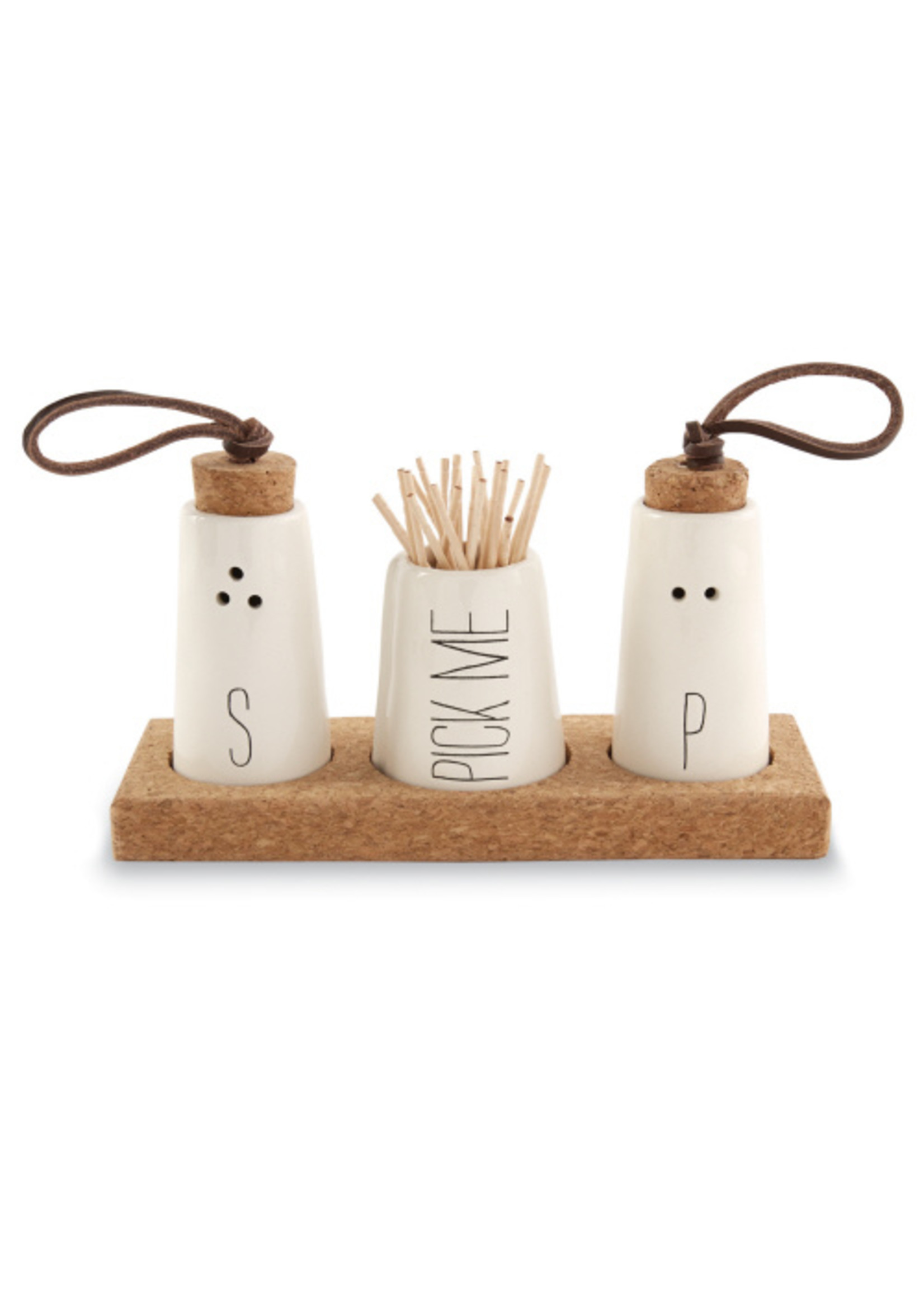 Salt and Pepper and Toothpick Holder