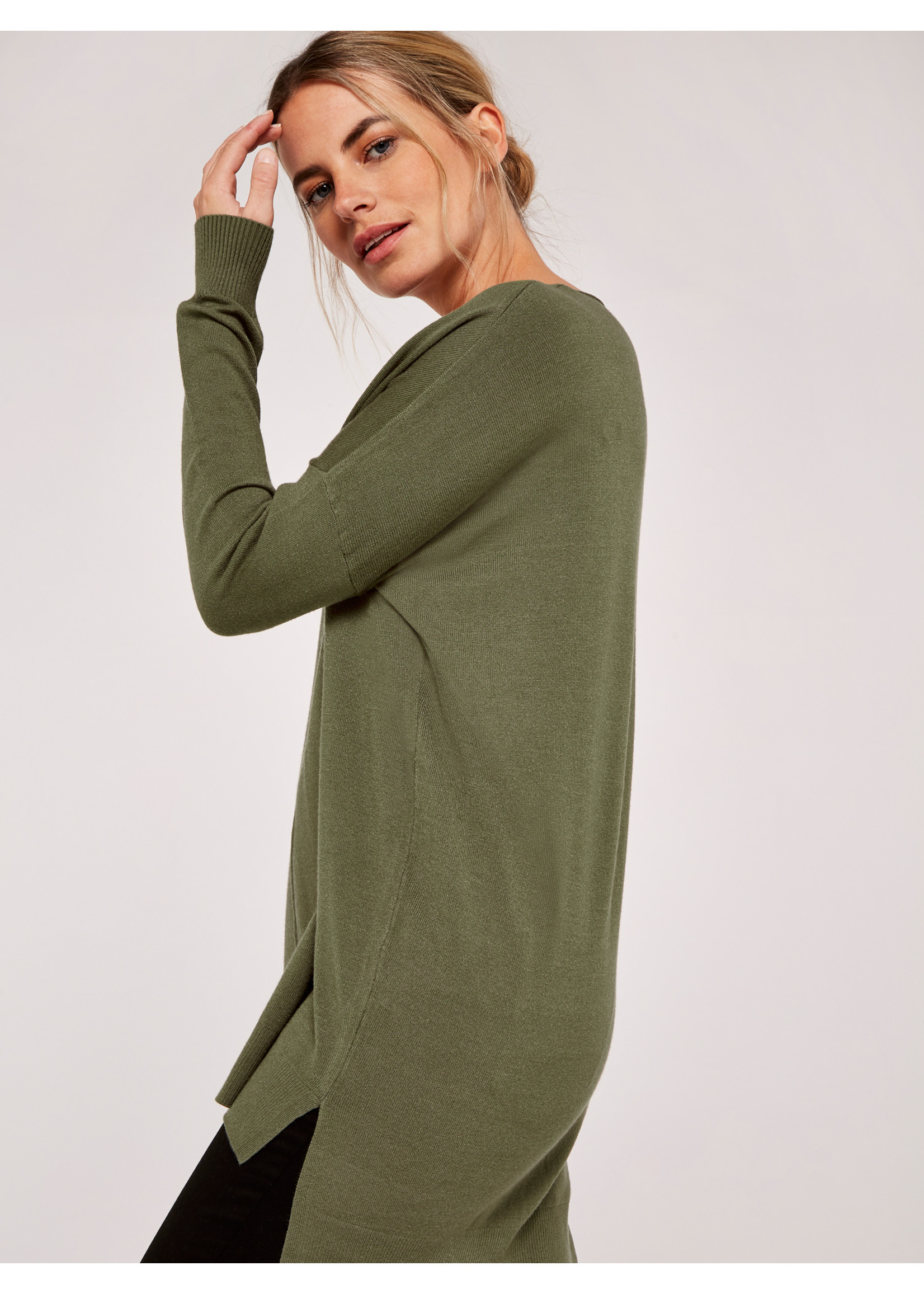 Apricot Soft Touch V-Neck Sweater