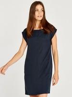 Apricot Side Pocket Rolled Sleeve Dress