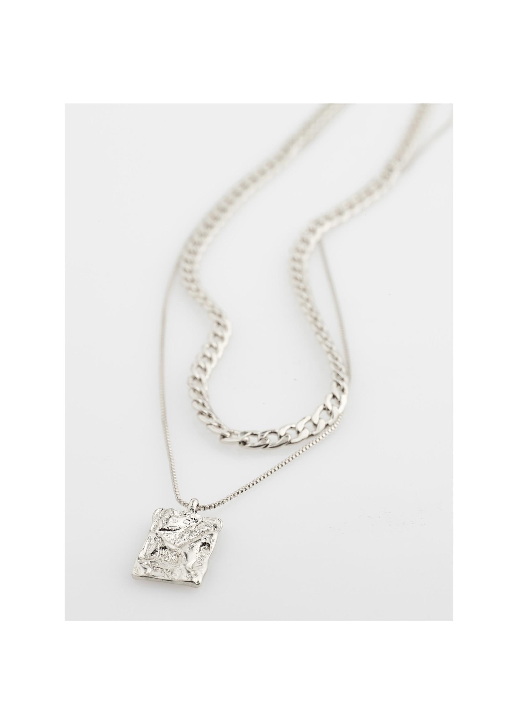 Pilgrim Jewellery Bathilda 2-in-1 Necklace - Silver