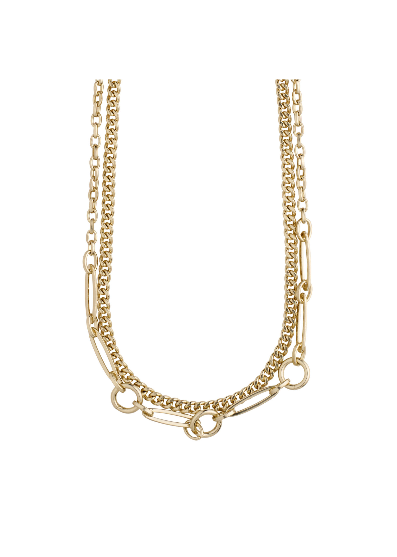 Sensitivity 2-in-1 Chain Necklace - Gold