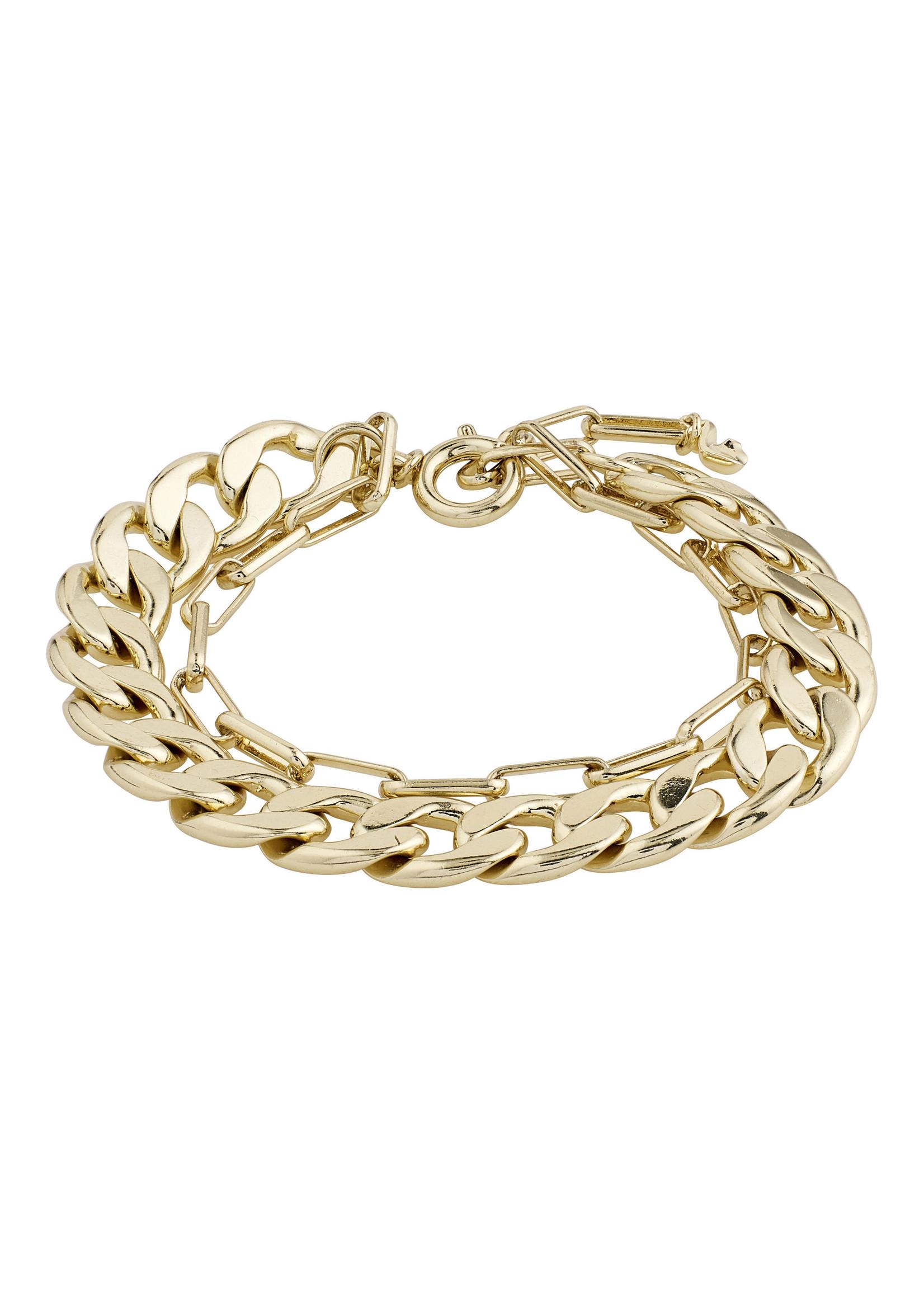 Pilgrim Jewellery Layered Compass Bracelet - Gold