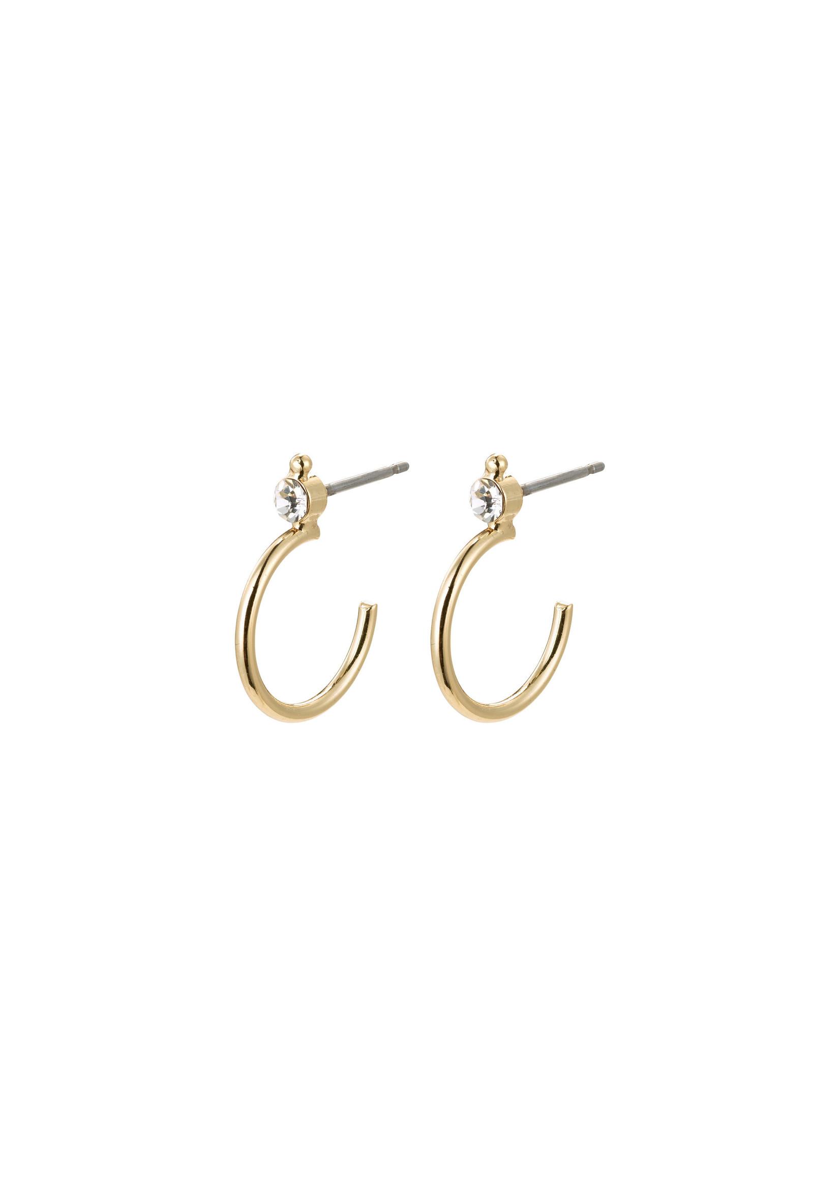 Pilgrim Jewellery Gabrielle Crystal Hoops - Gold