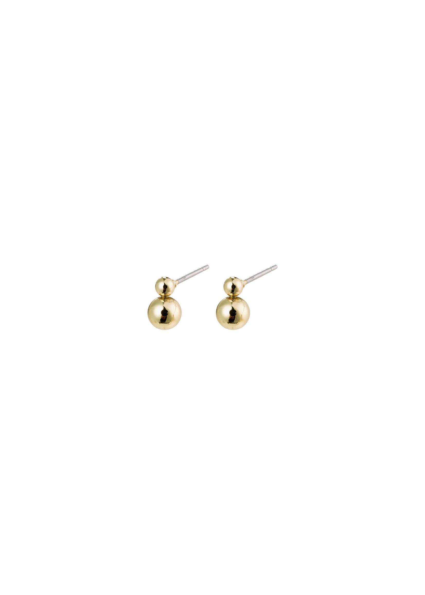 Gala Stud Earrings - Gold