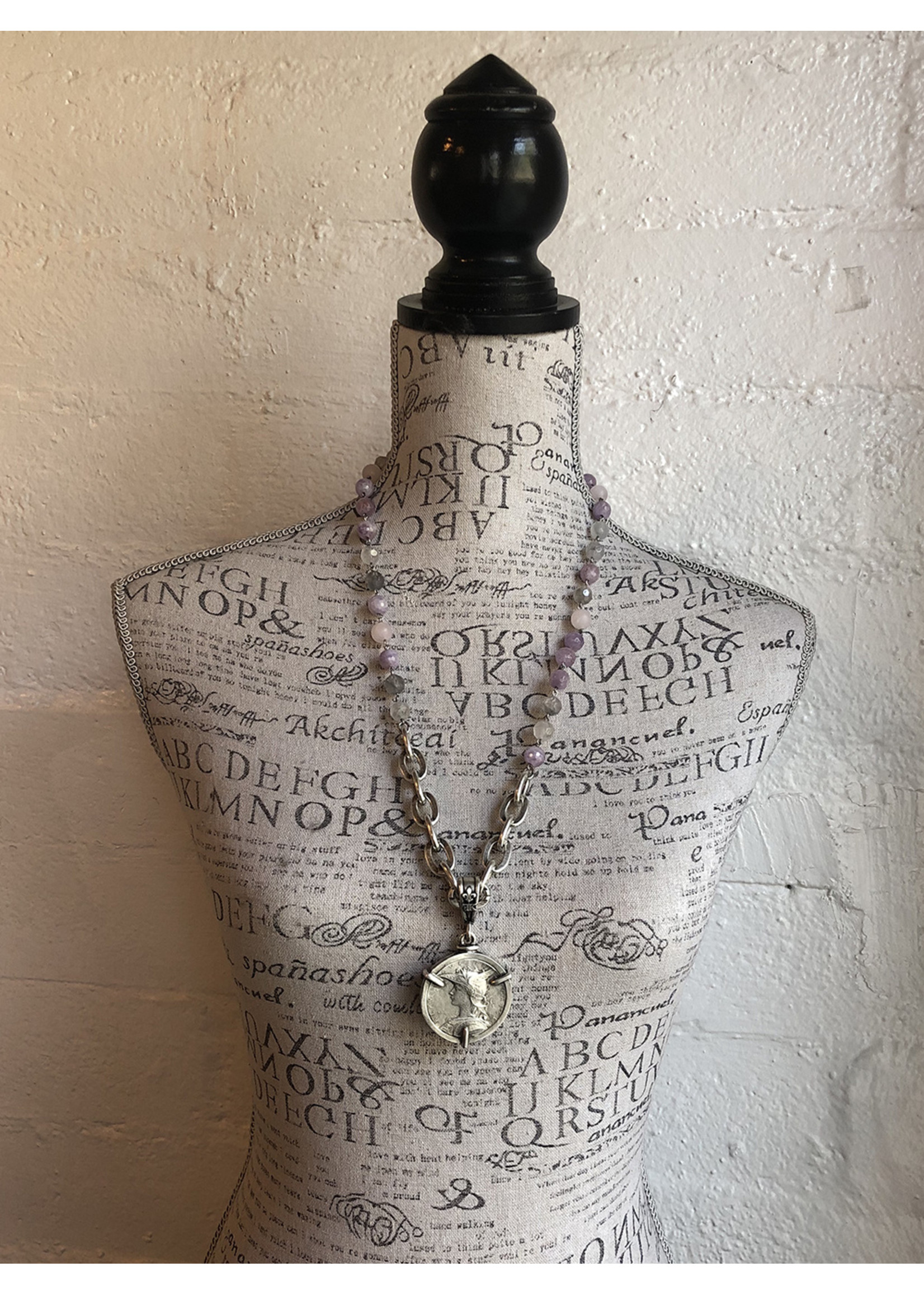 French Kande Lavender and Lourdes Chain with Ministry Medallion