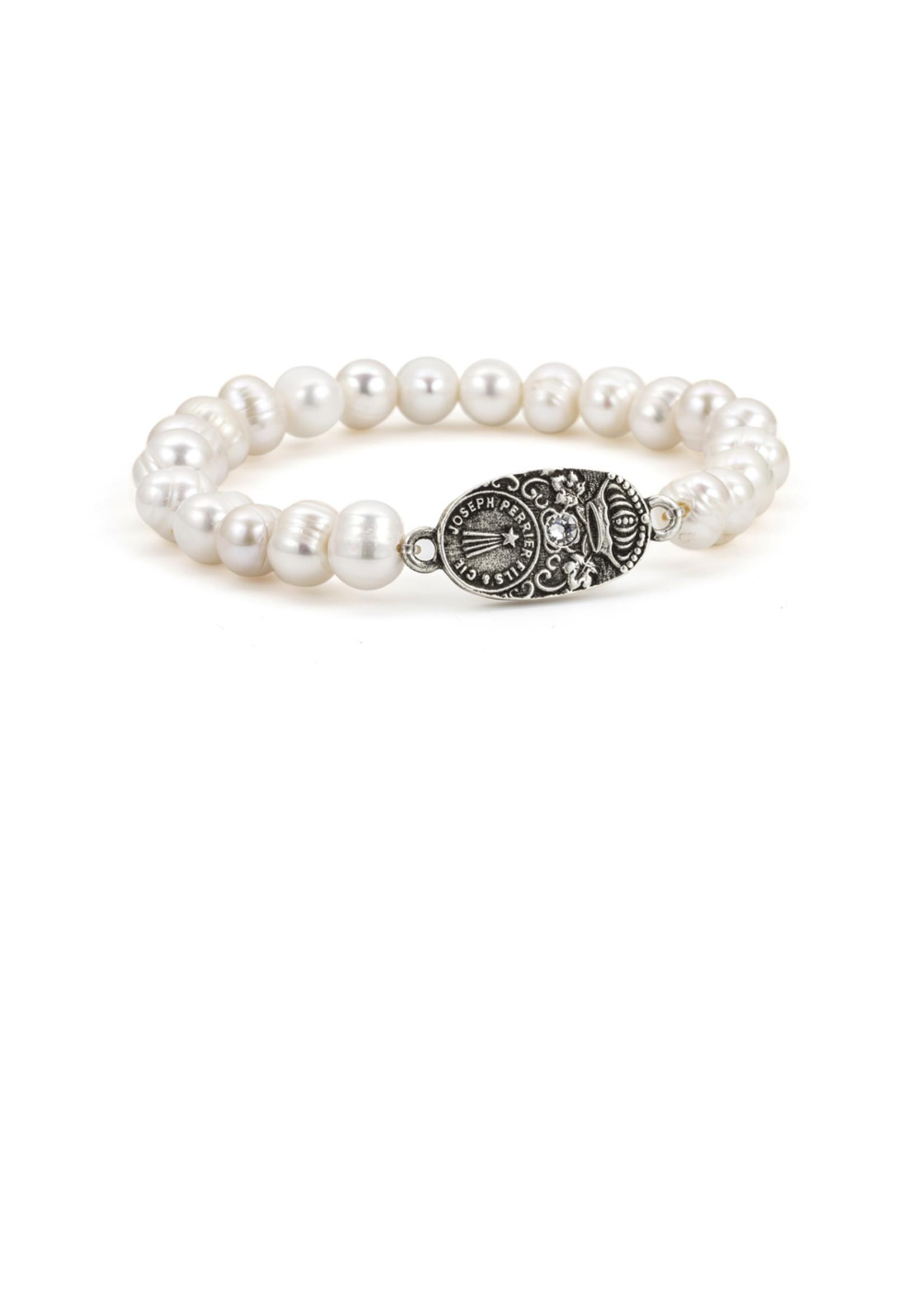 White Pearl with Swarovski Cuvee Pendant